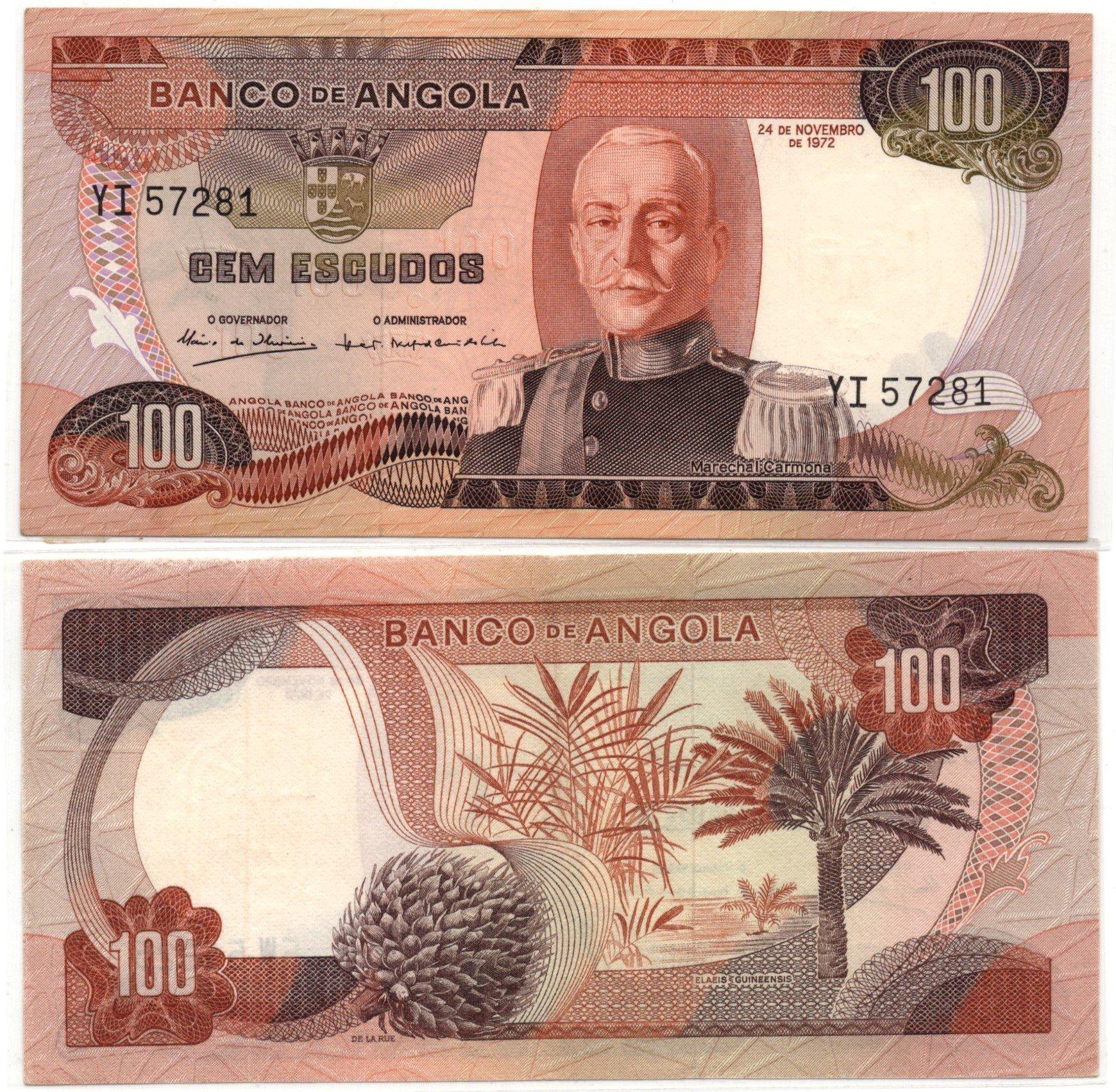 angola  100 escudos 1972