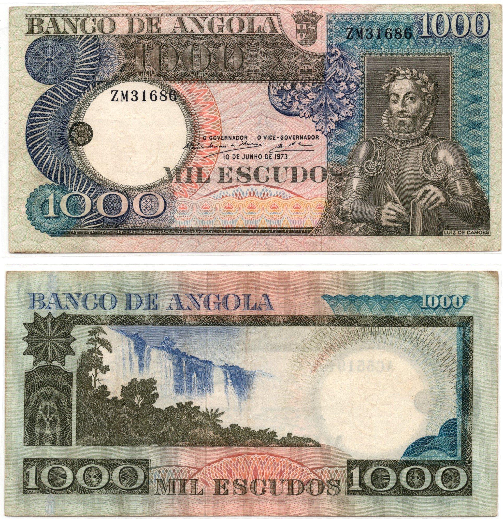 angola 1000 escudos 1973