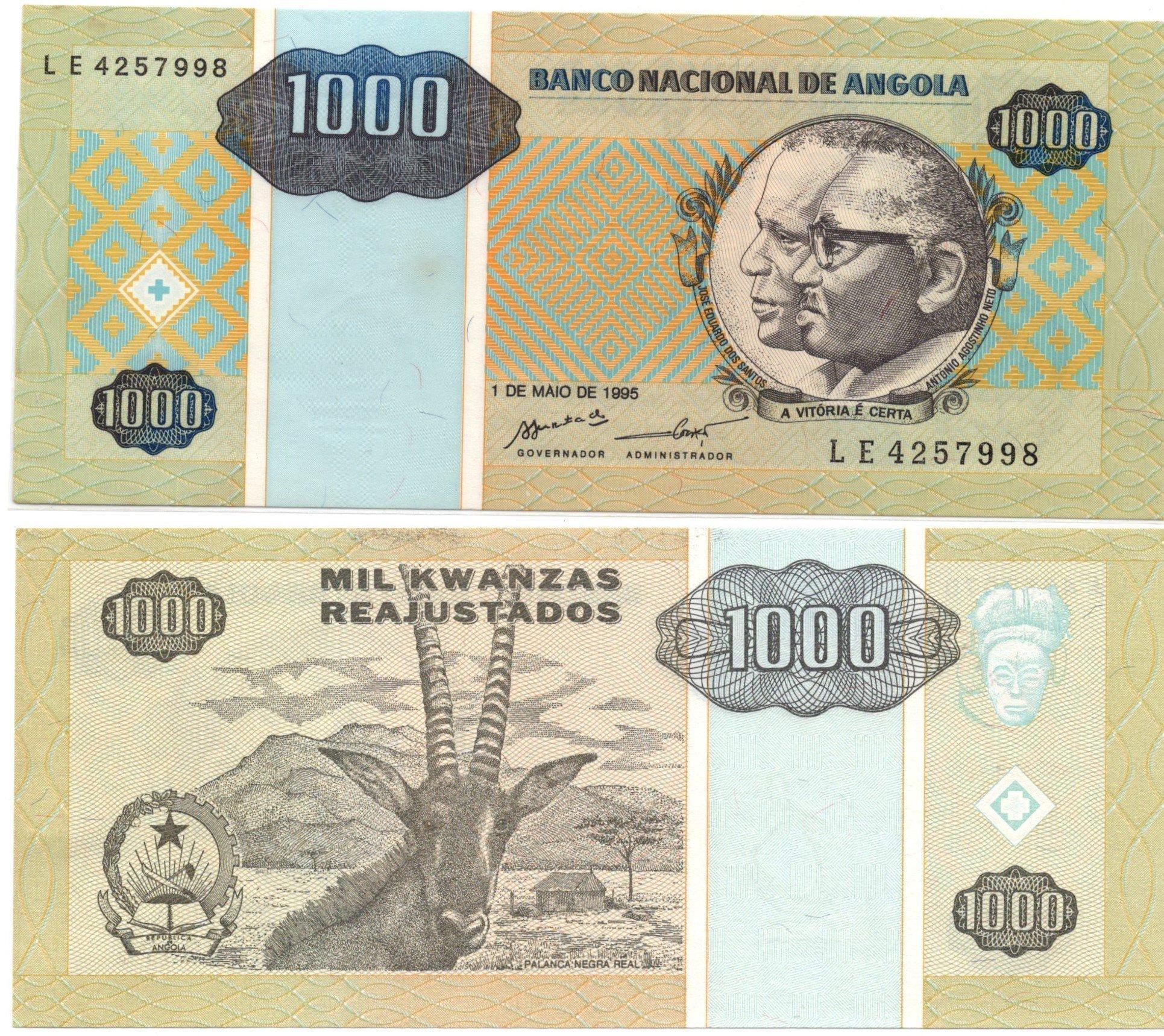 angola 1000 kwanzas 1995