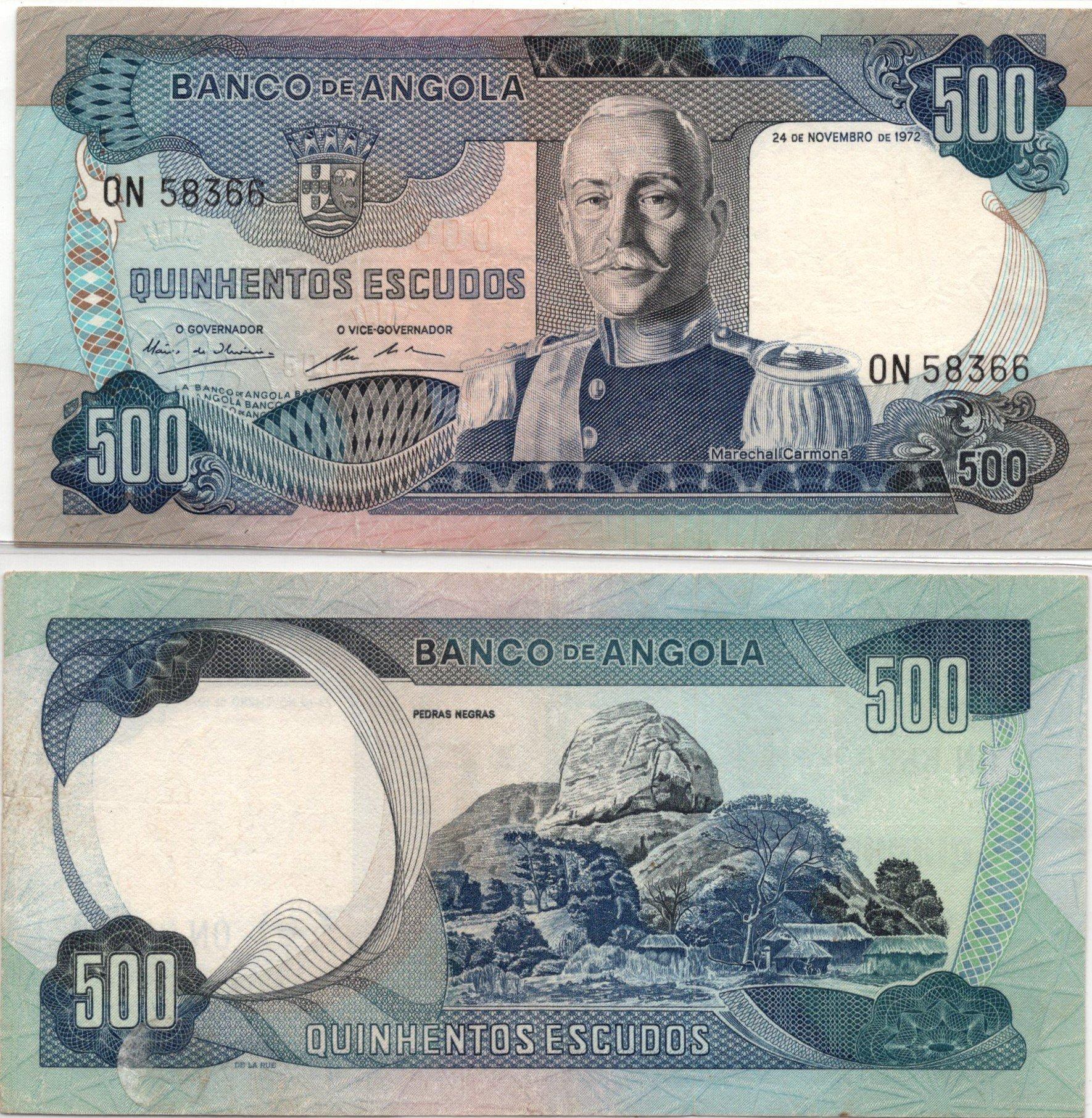 angola 500 escudos 1972