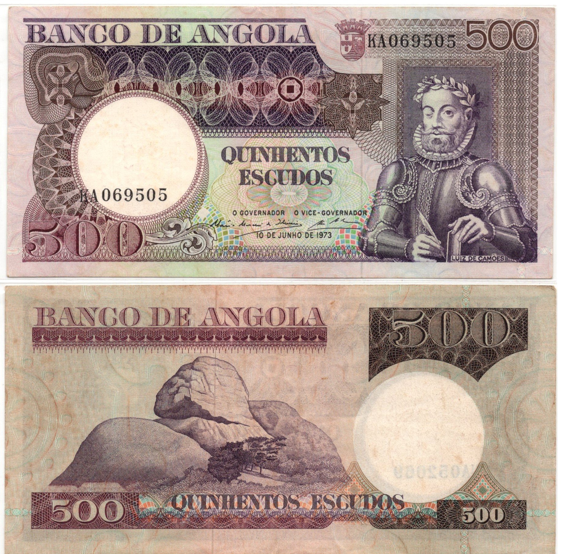 angola 500 escudos 1973