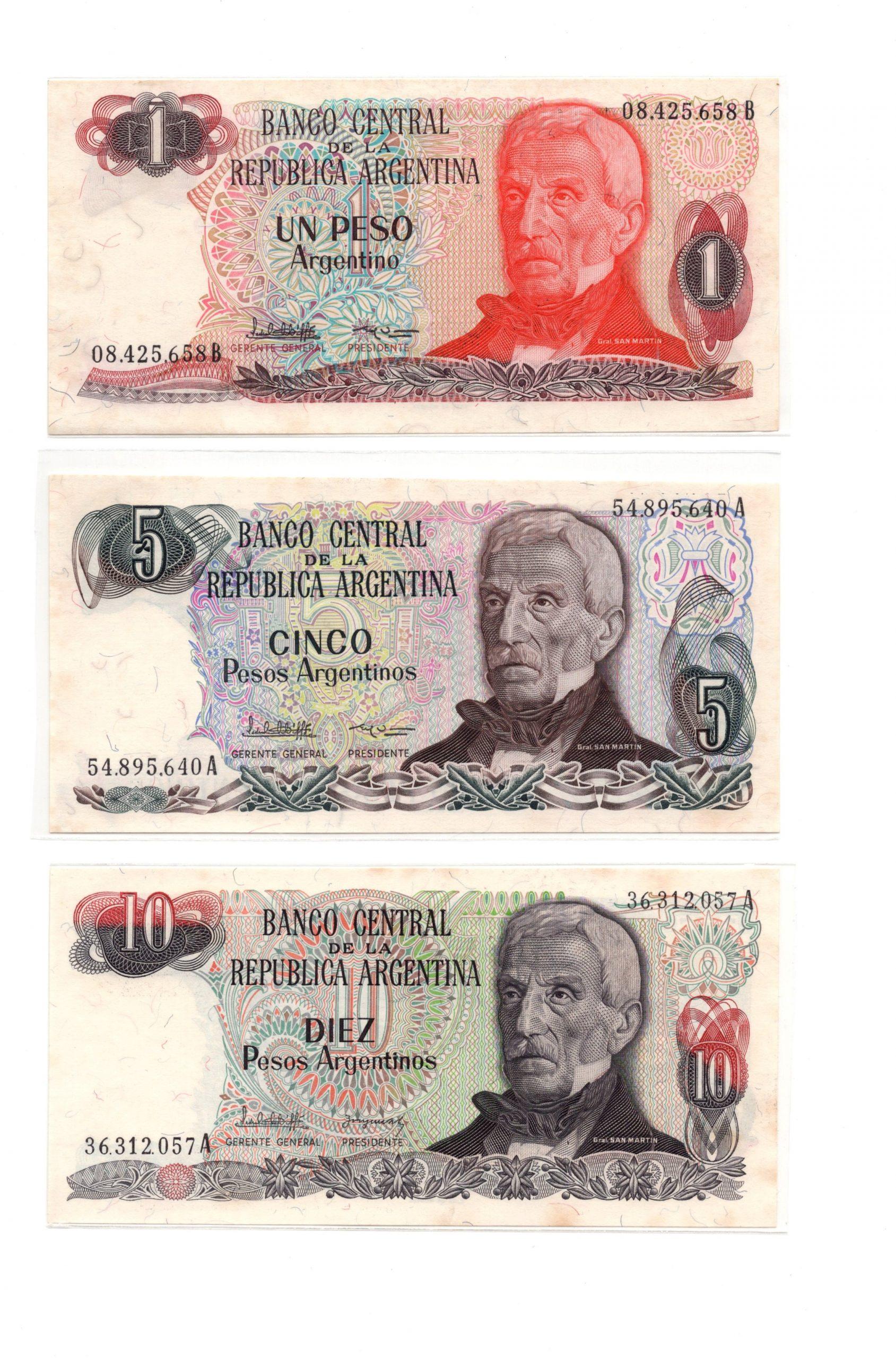 Argentina Gen martin banknote