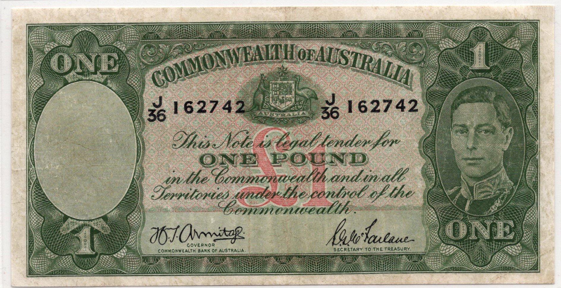 australia 1 pound KGVI