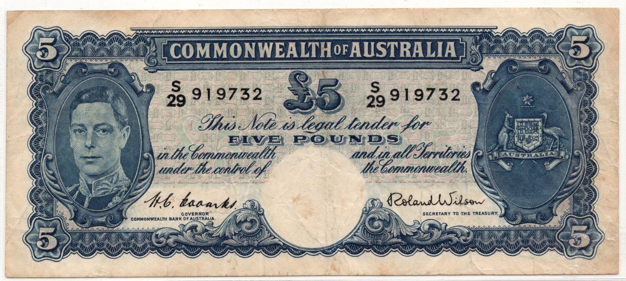 australia 5 pounds
