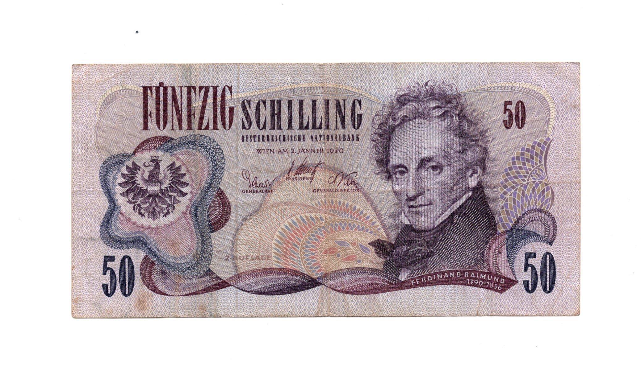 austria 50 kronen 1970