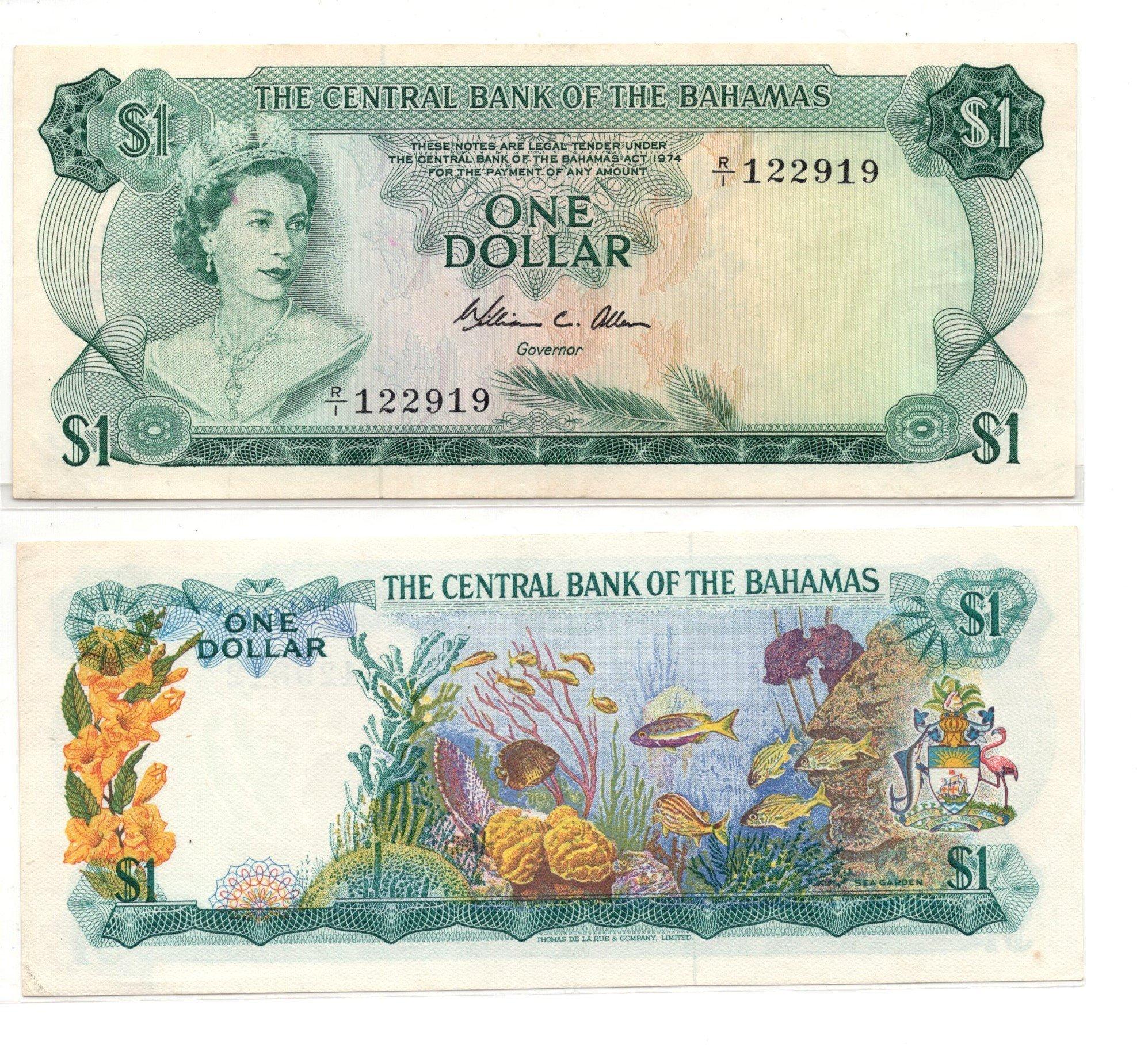 bahamas 1 dollar 1974