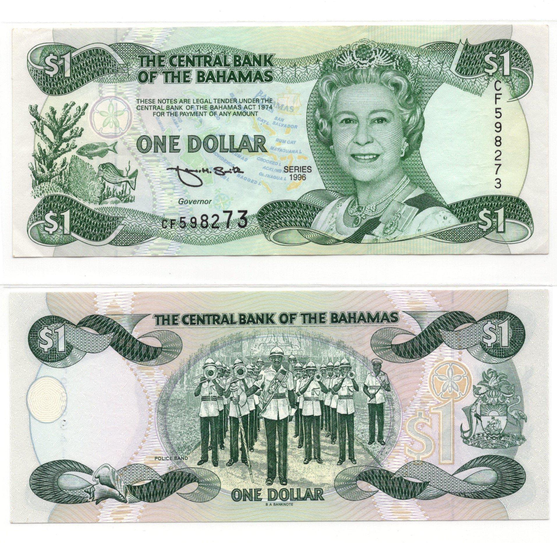 Bahamas 1 dollar 1996