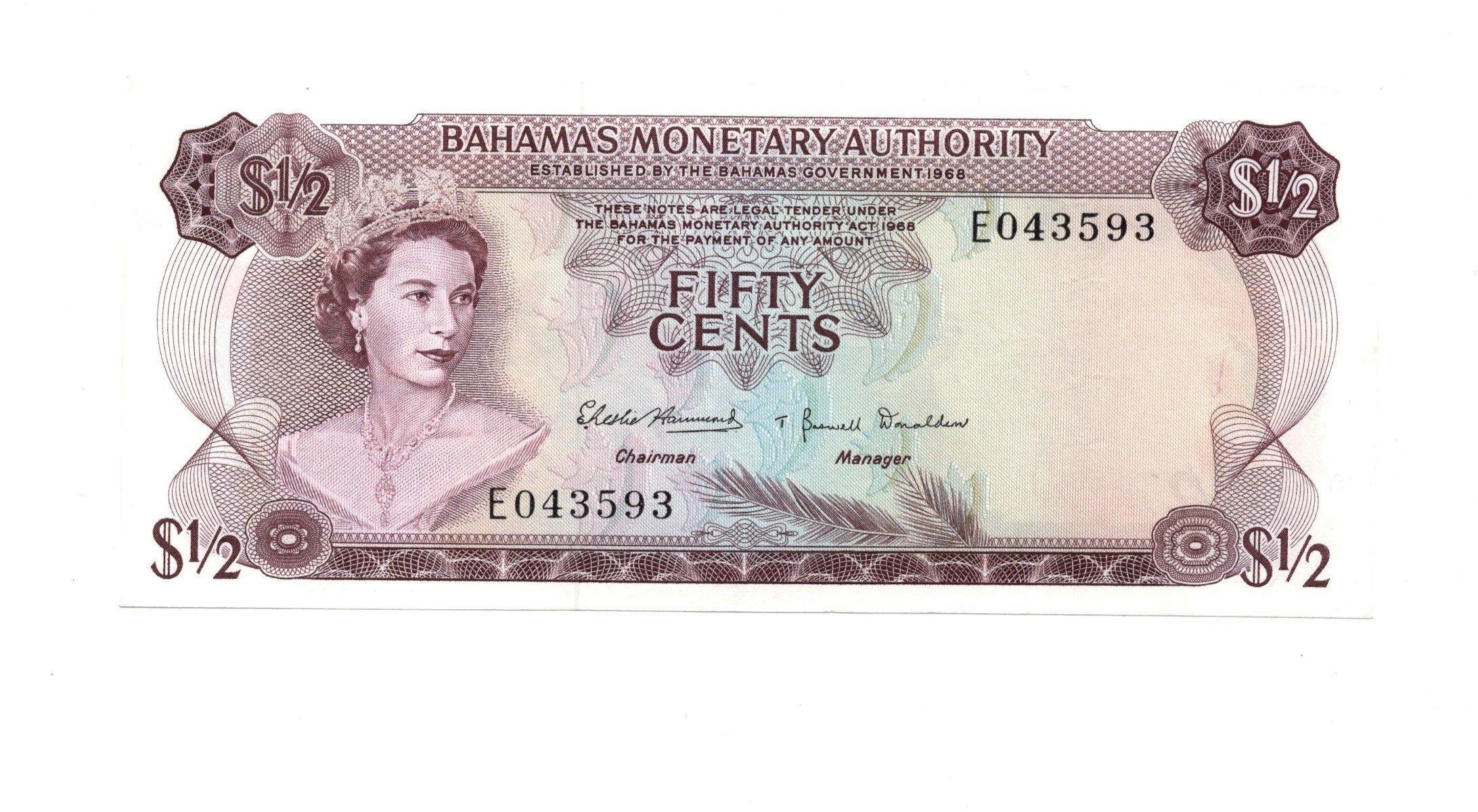 Bahamas 50 cents 1968