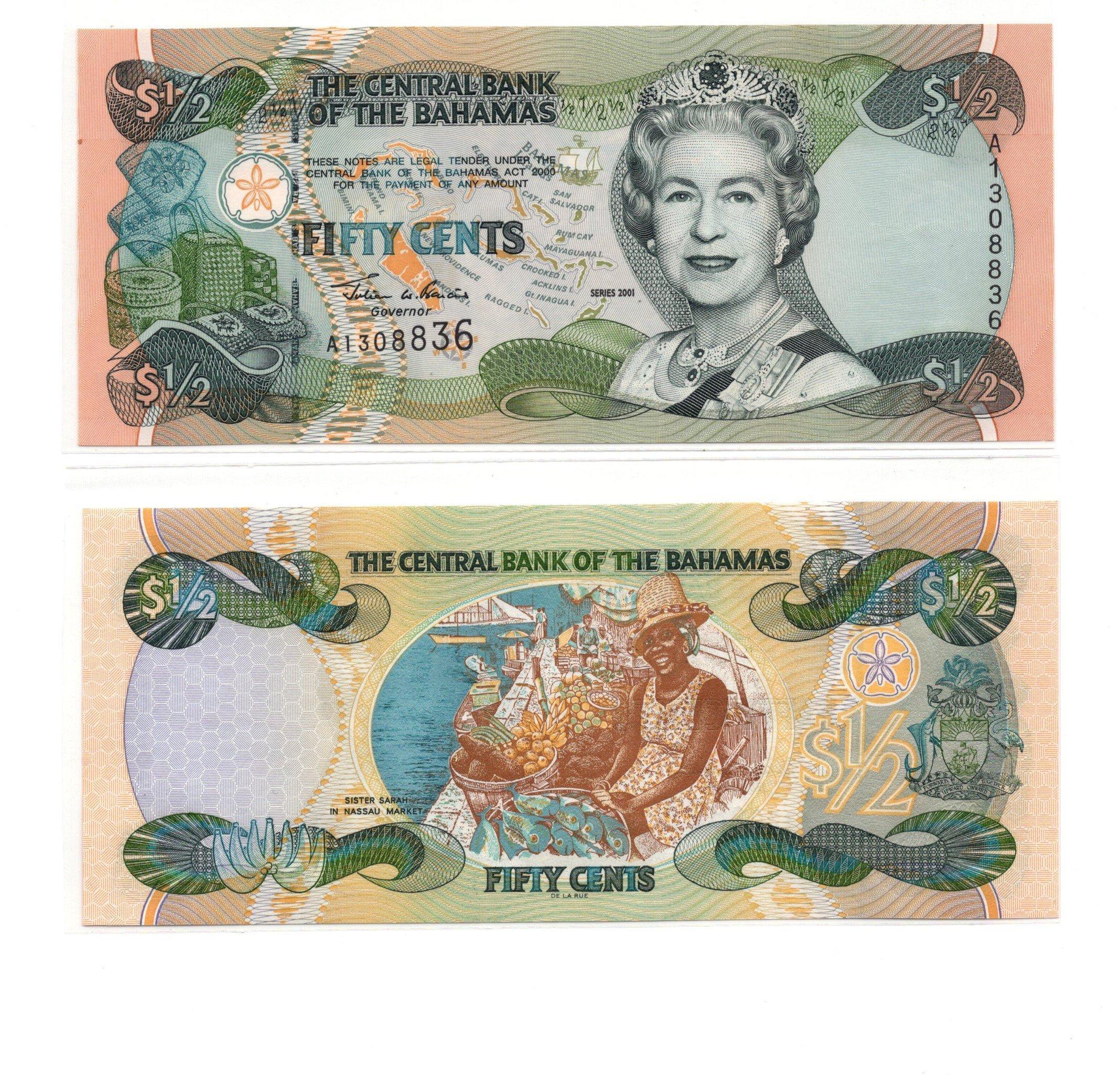 Bahamas 50 cents 2001