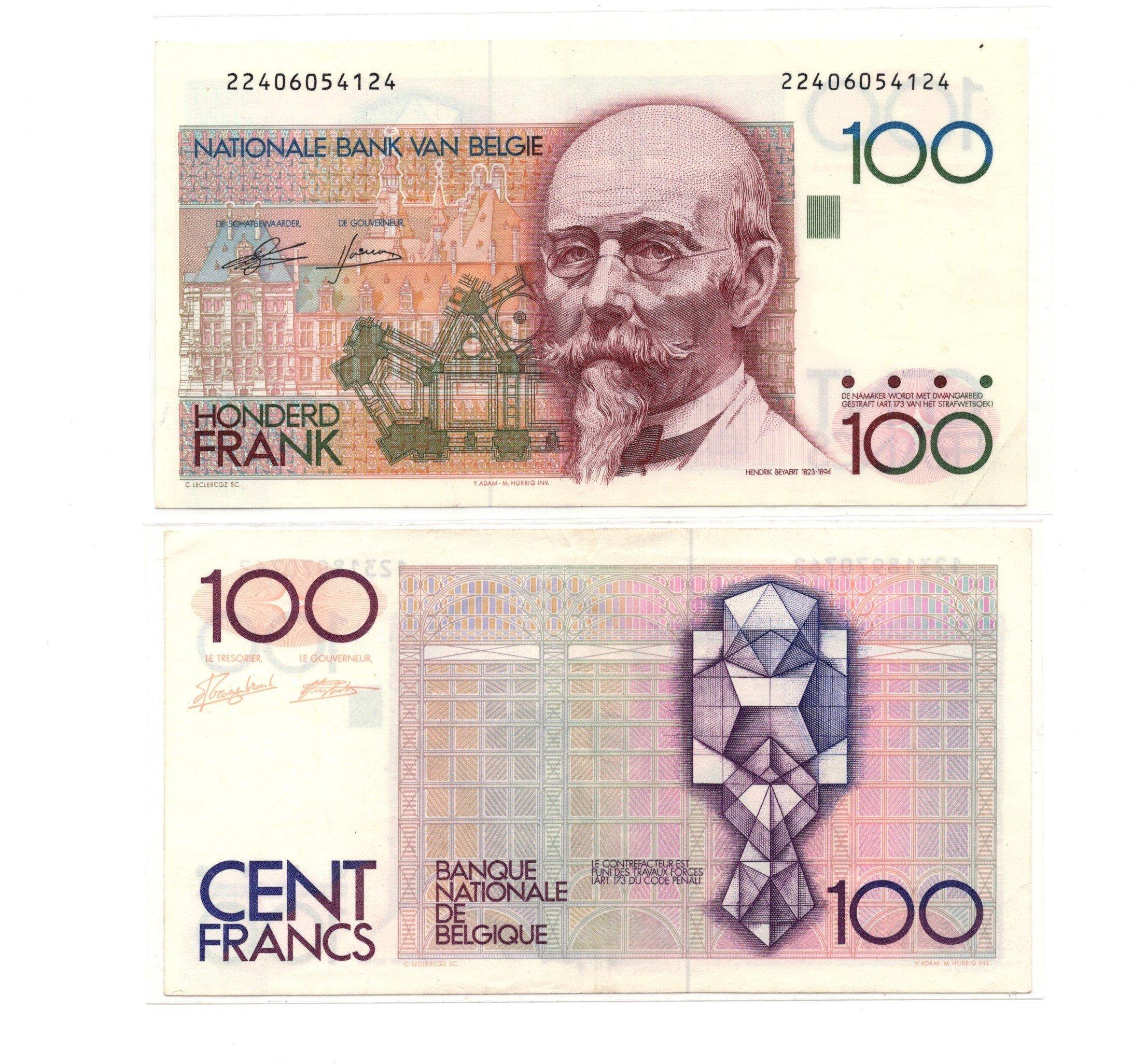belfium 100 francs