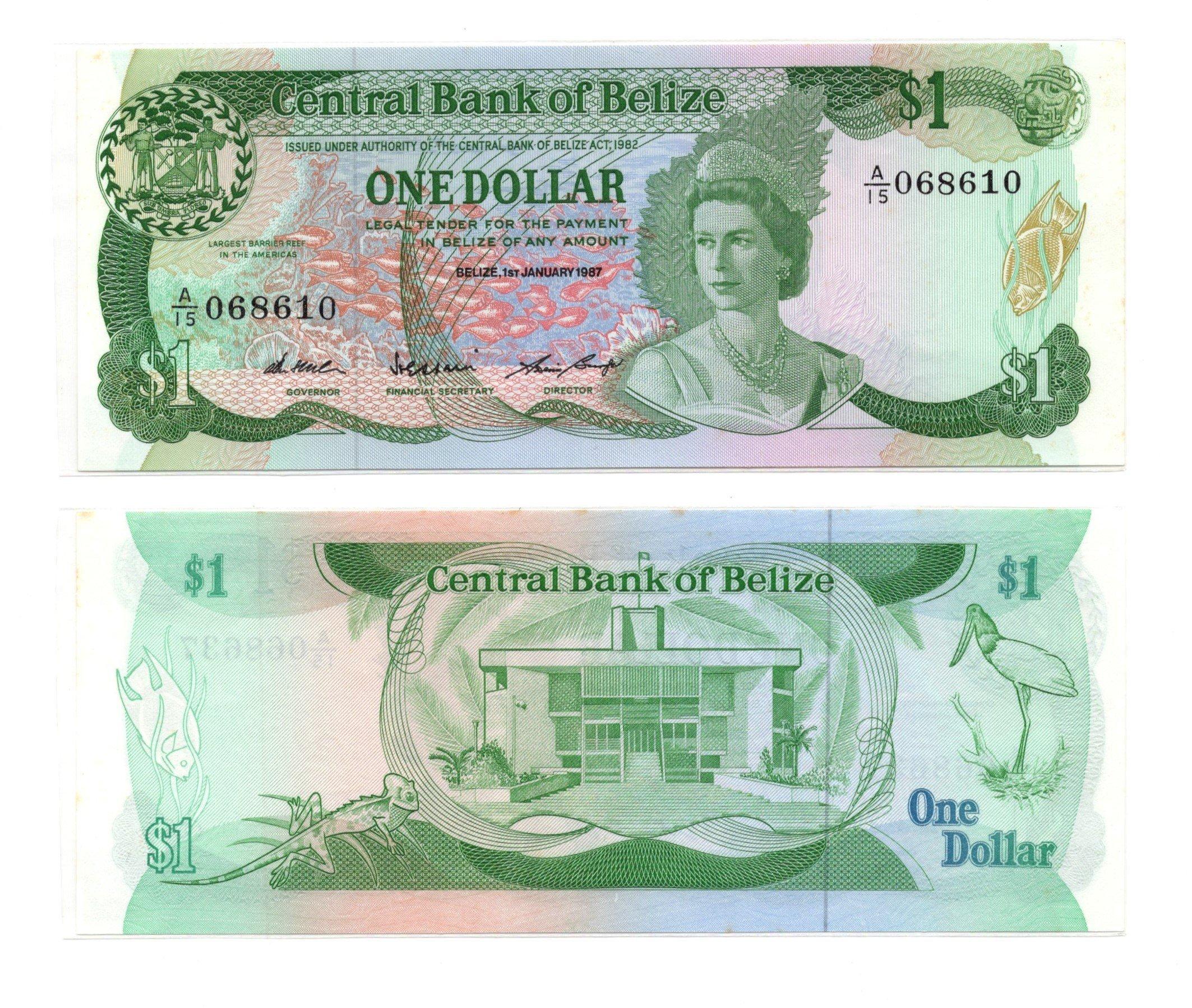 Belize 1 dollar 1987