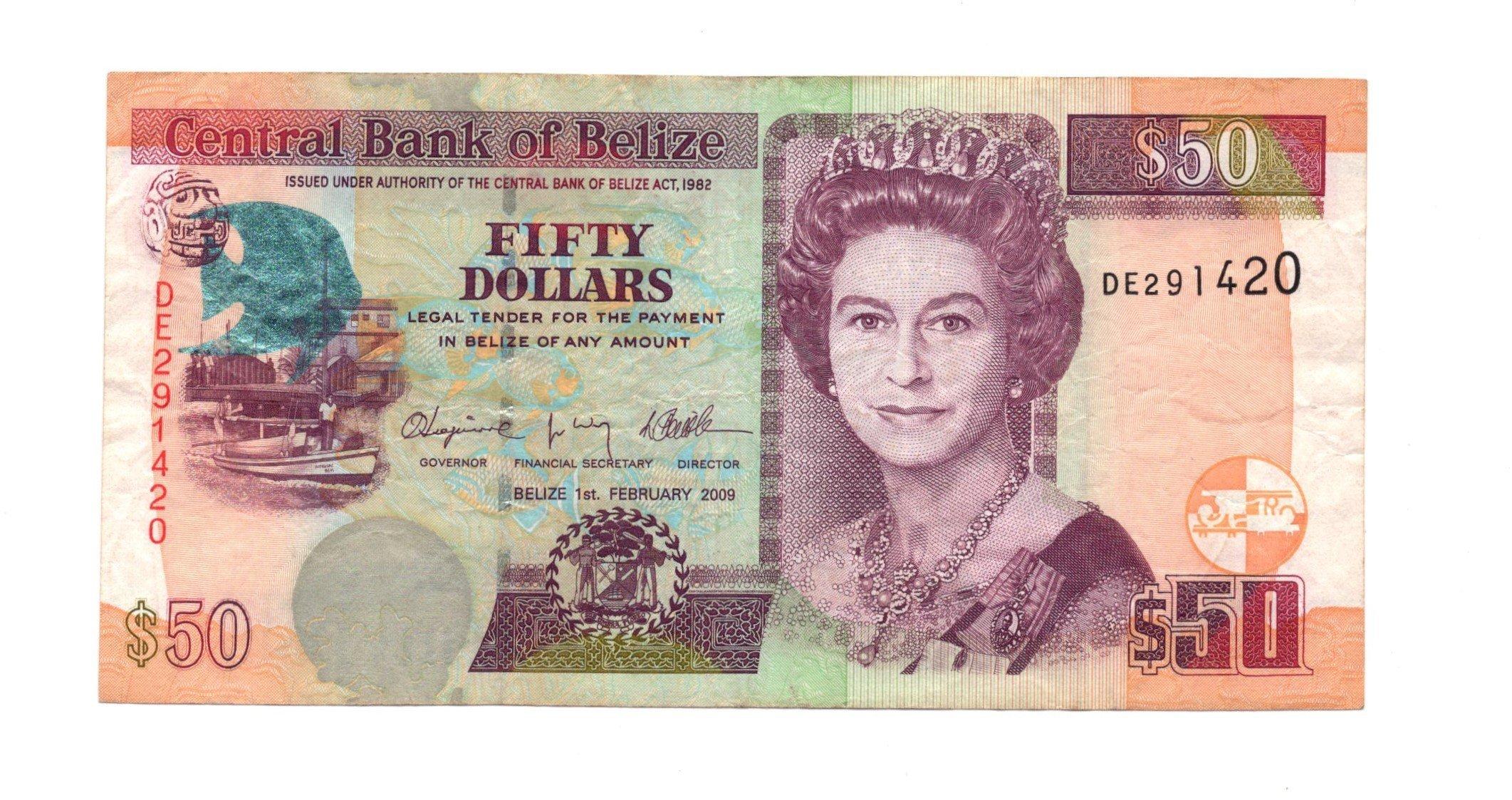 belize 50 dollars 2009
