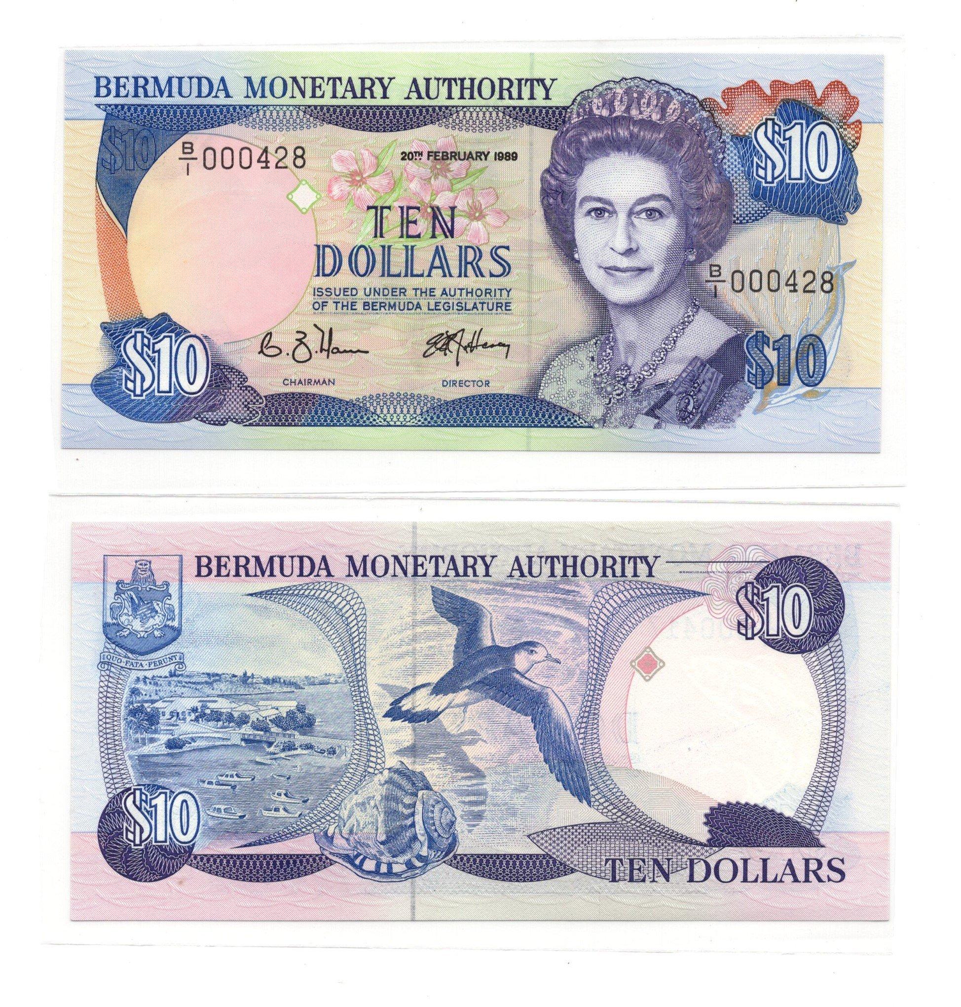 Bermuda 10 dollars 1989