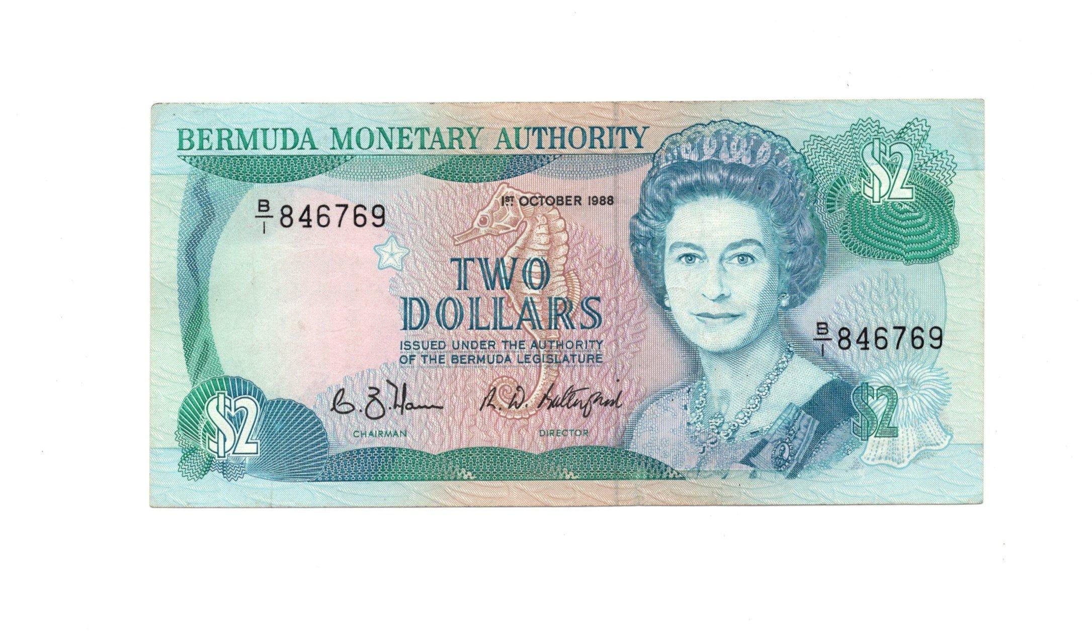 Bermuda 2 dollars 1988