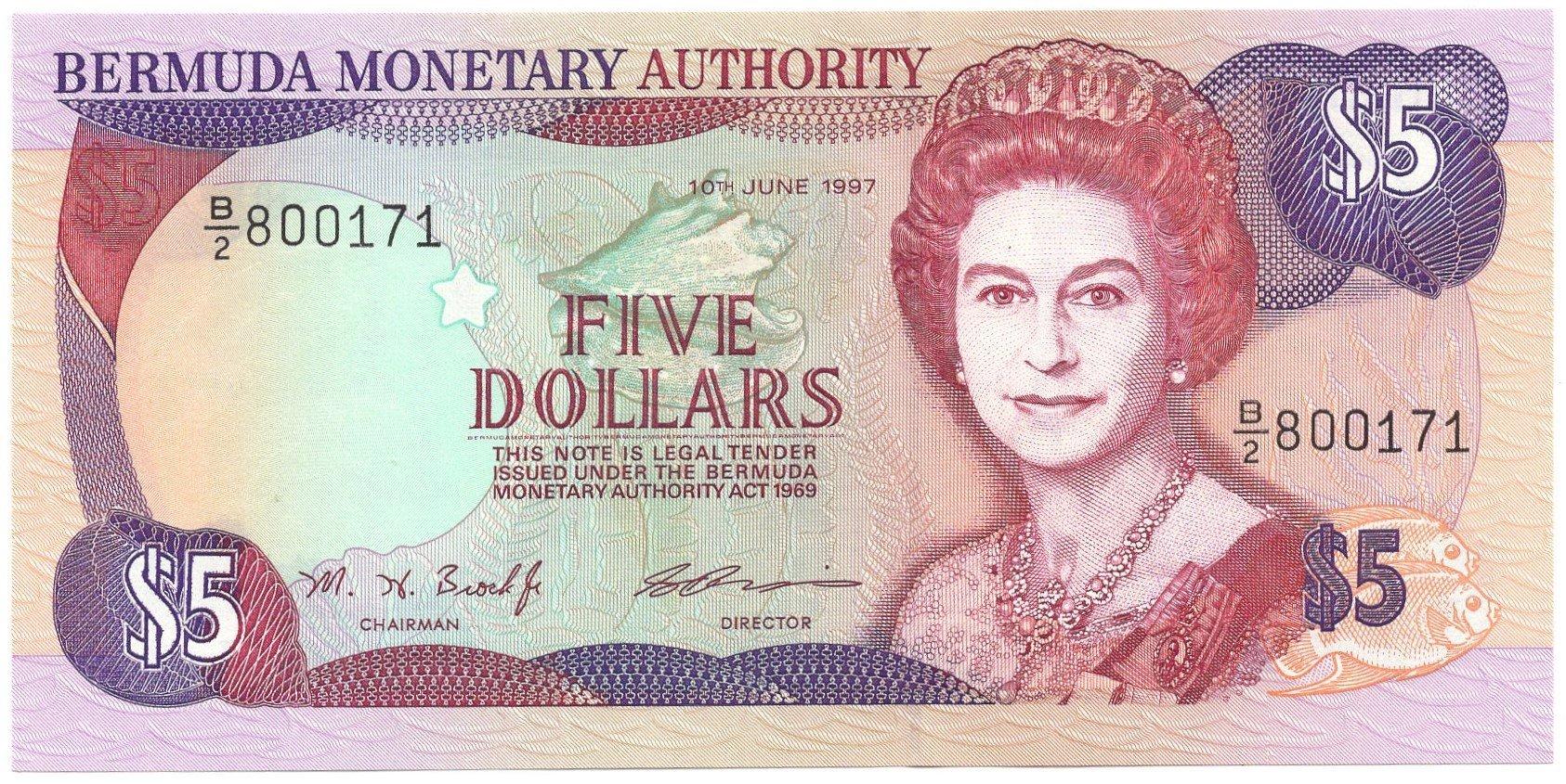 Bermuda 5 dollars 1997