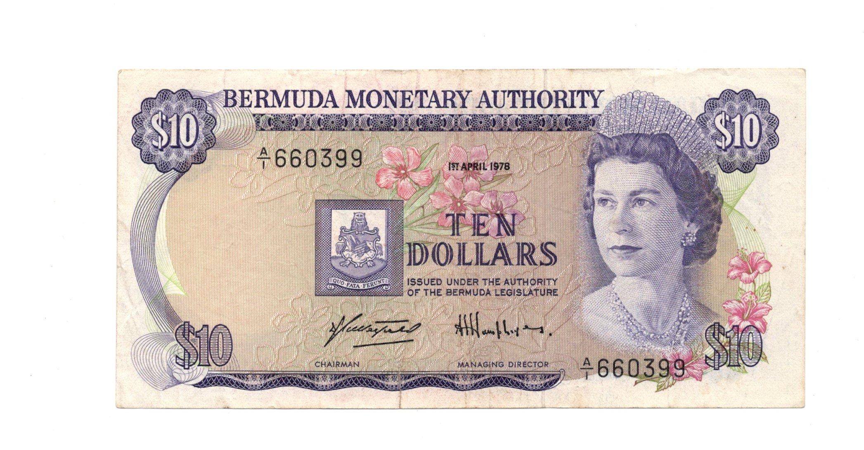 Bermuda 10 dollars 1976