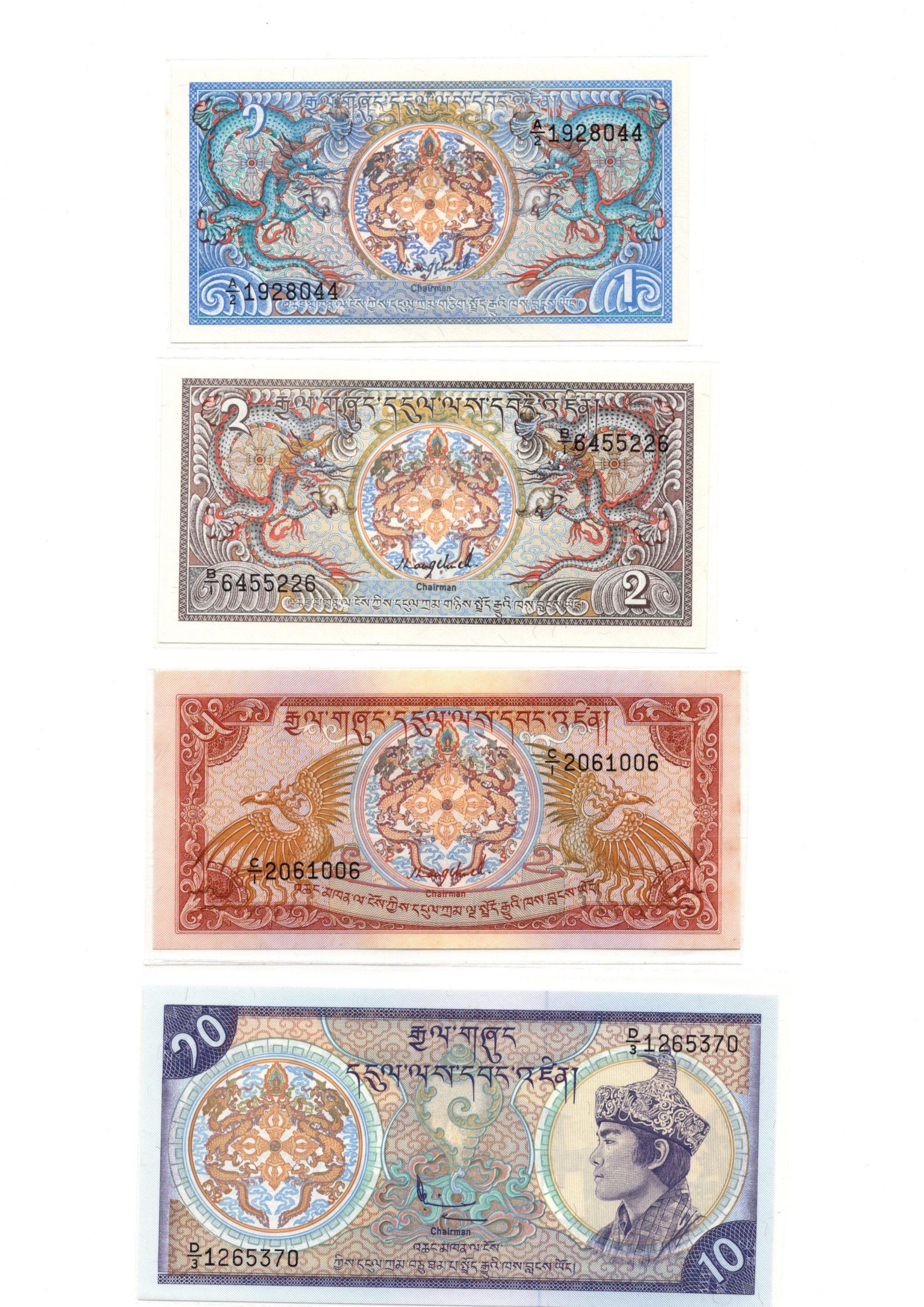 Bhutan banknote set