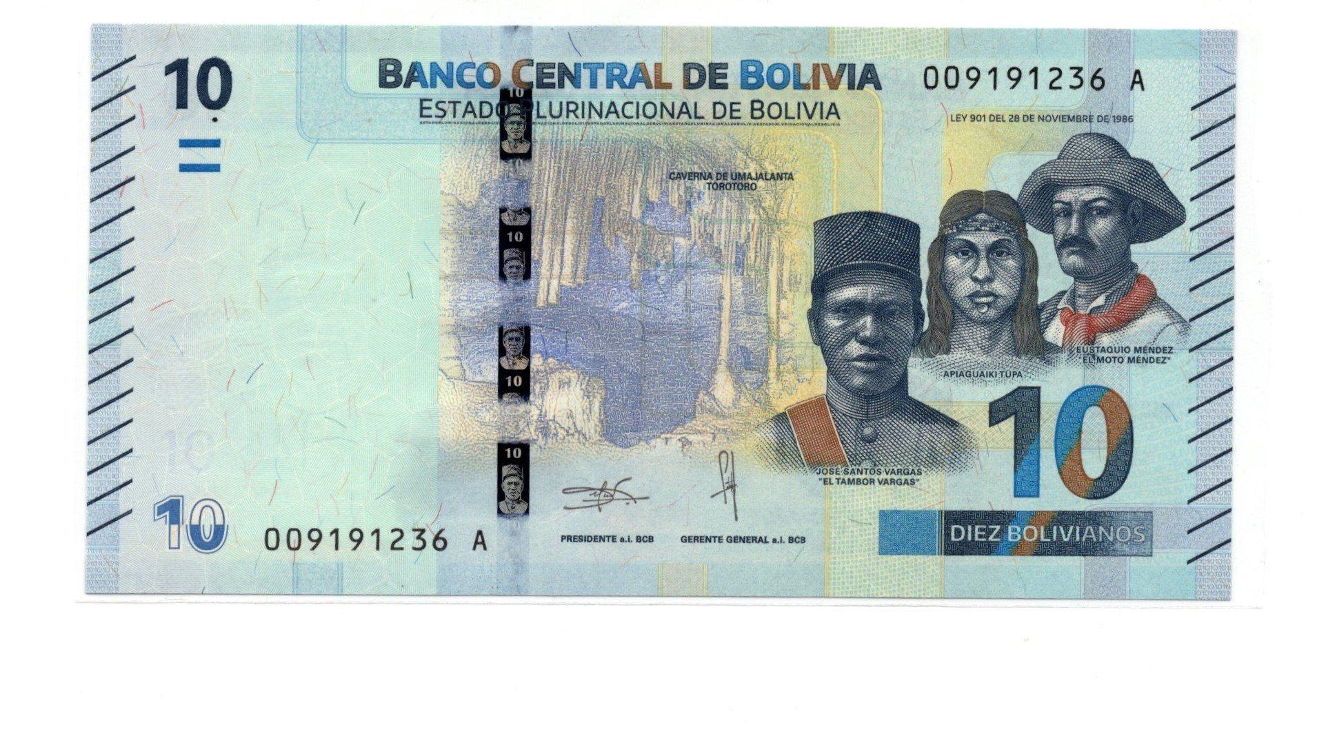 Bolivia 10 bolivanos