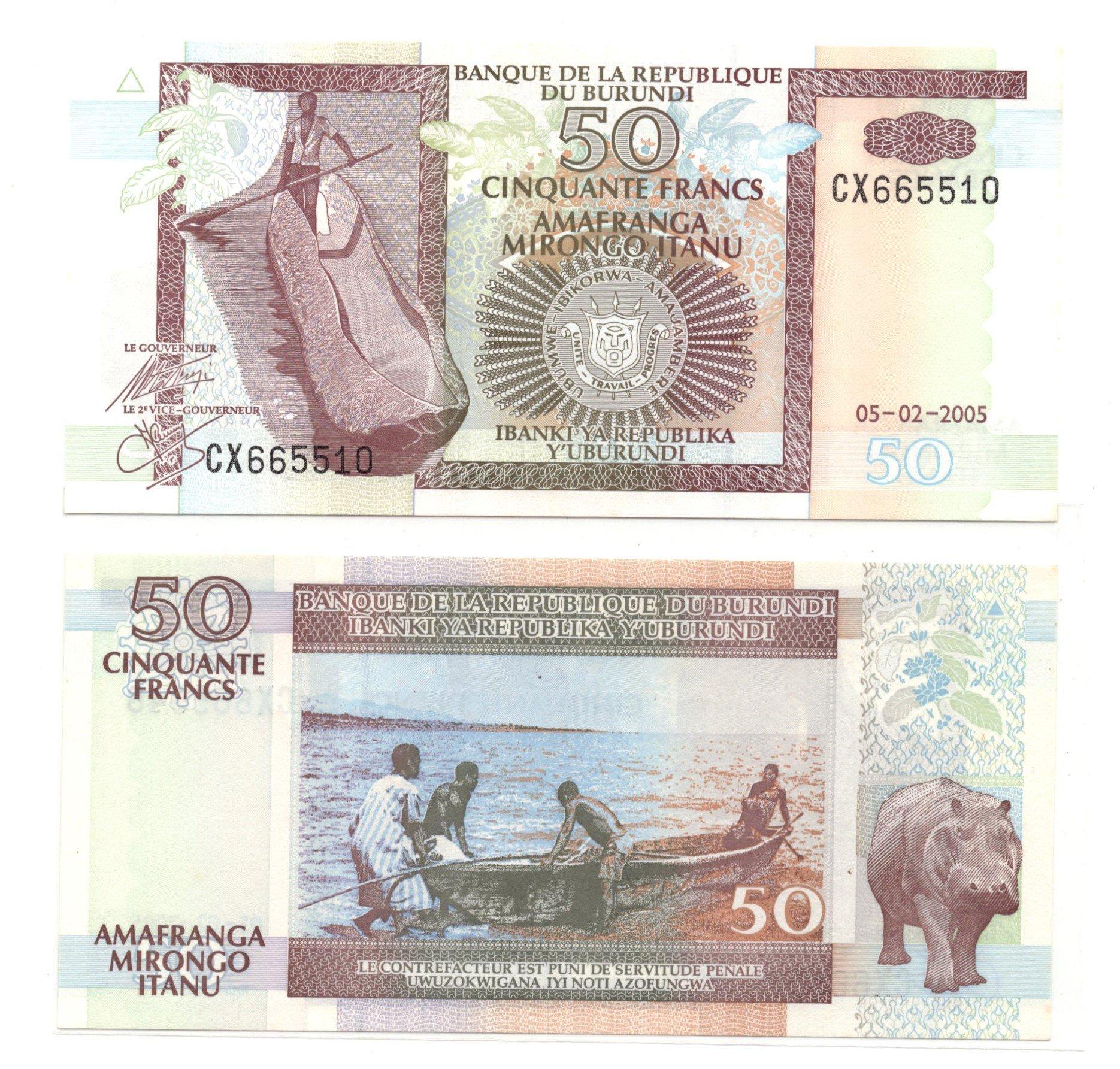 burundi 50 francs