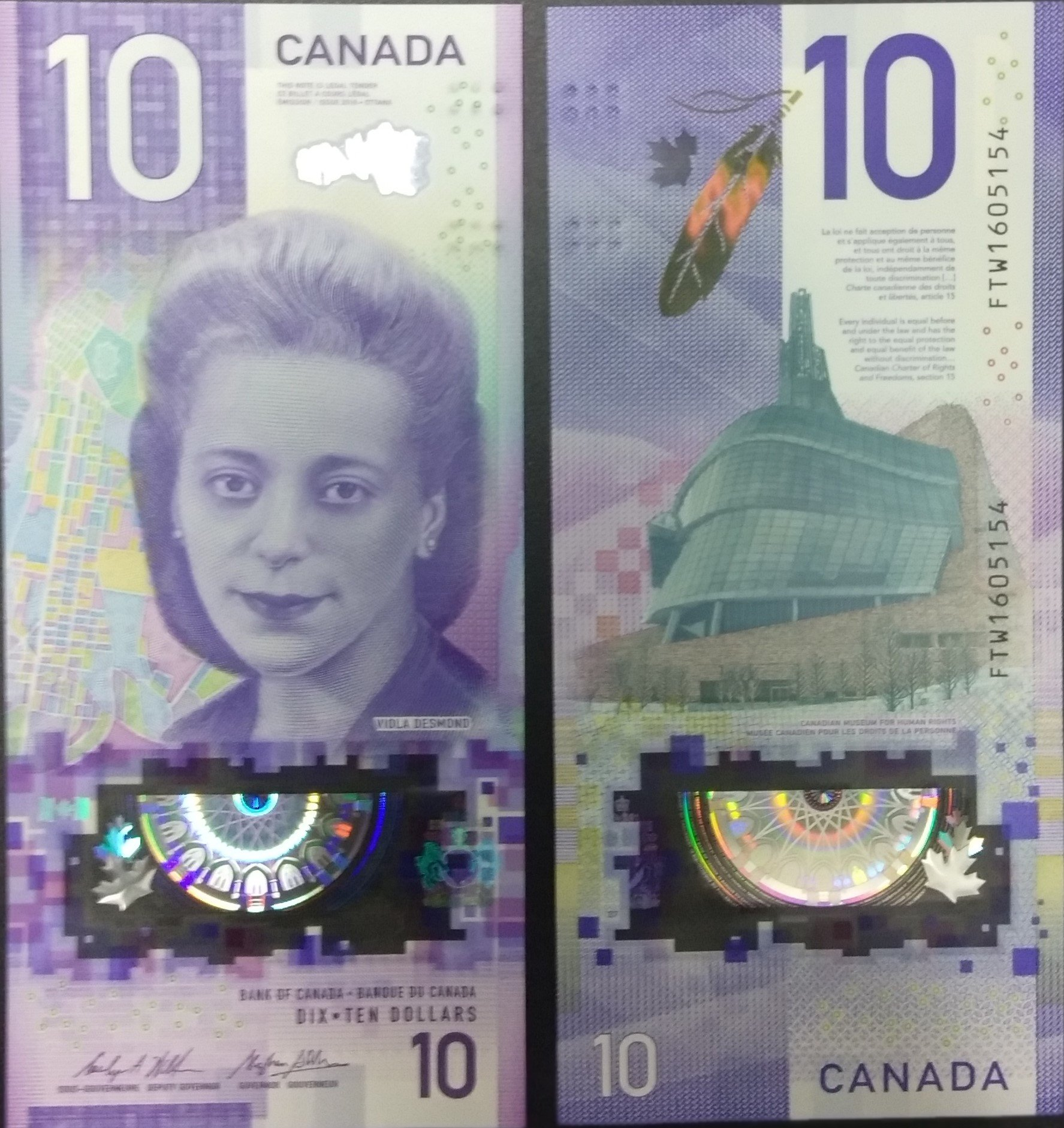 Canada 10 dollars polymer 2019 banknote for sale