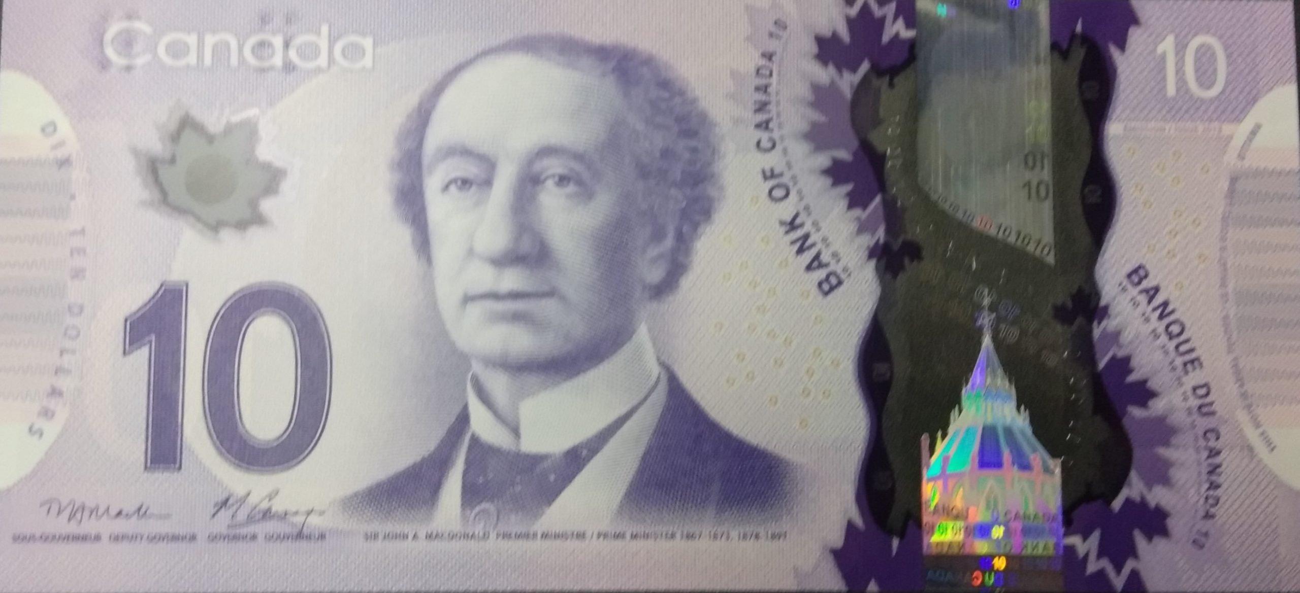 Canada 10 dollars polymer