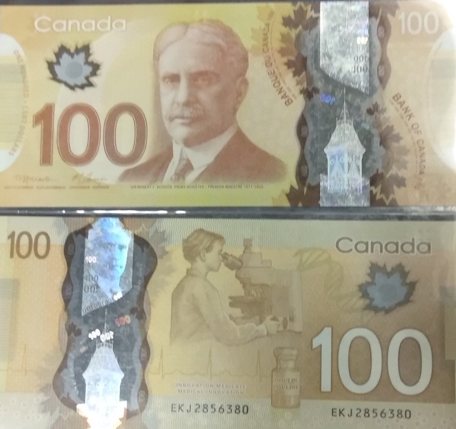 Canada 100 dollars polymer banknote for sale