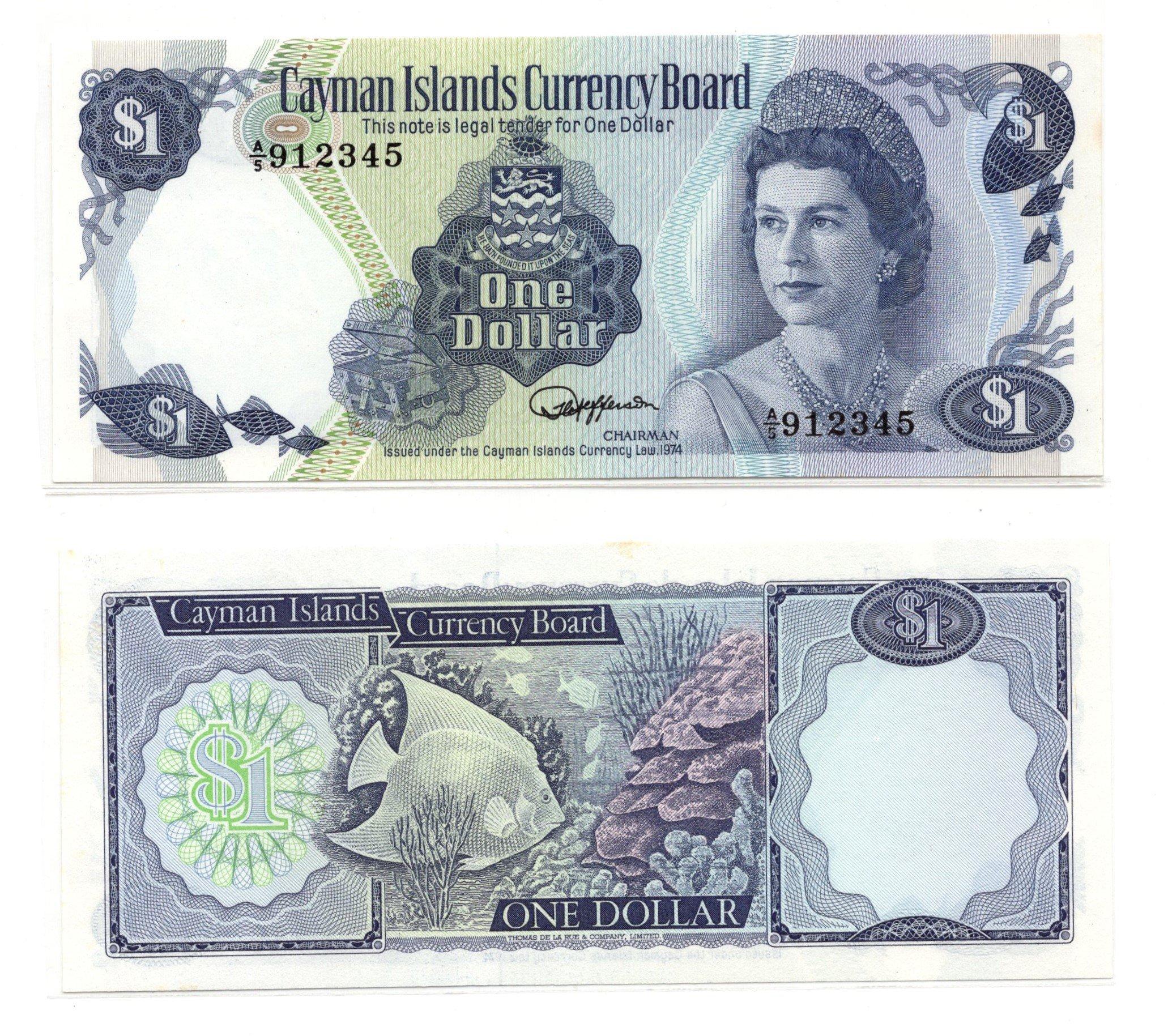 Cayman 1 dollar 1974