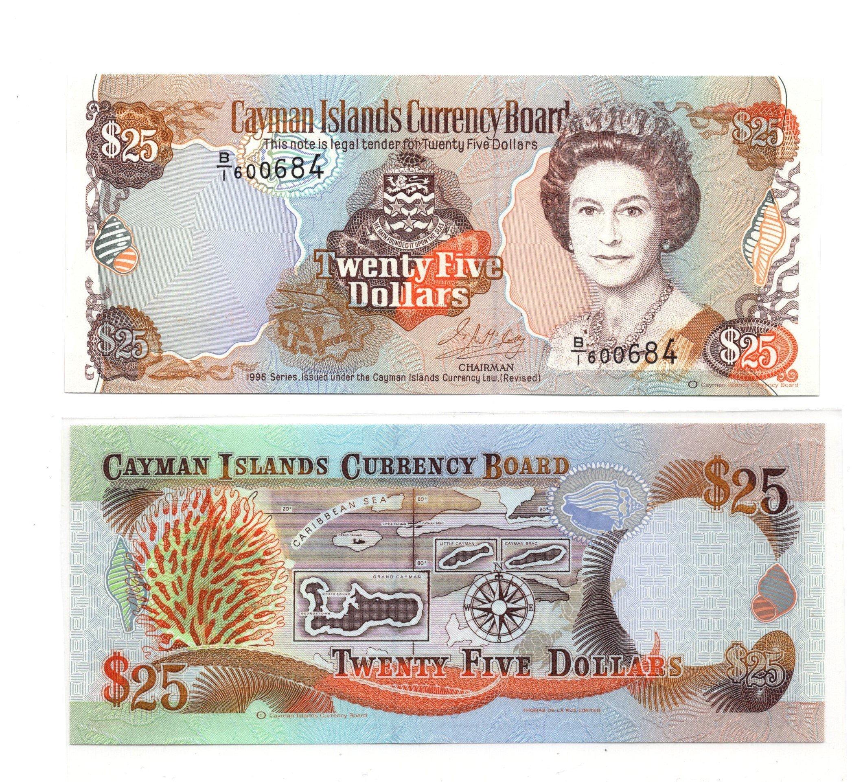 Cayman islands 25 dollars 1996