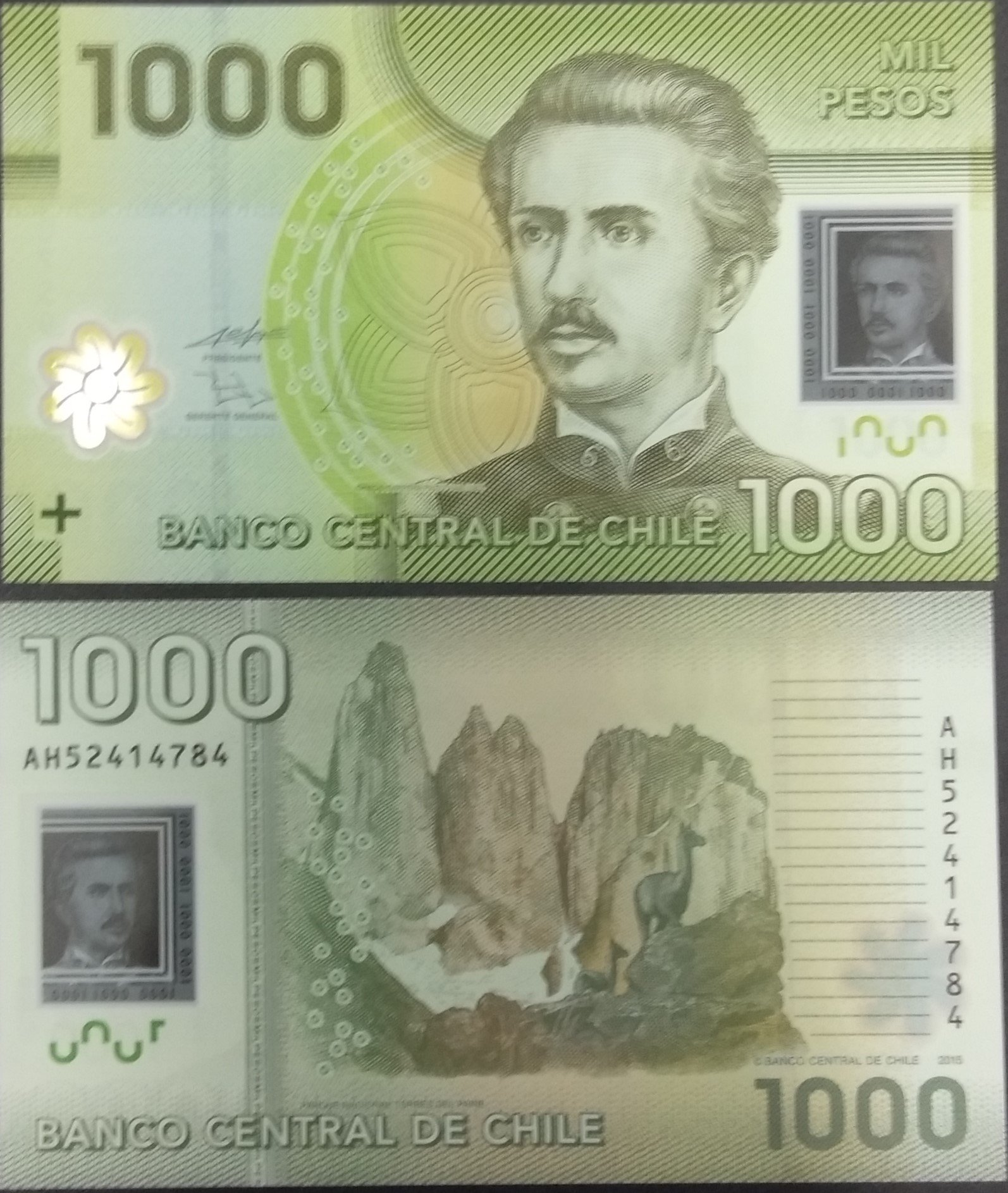 Chile 1000 pesos polymer banknote for sale