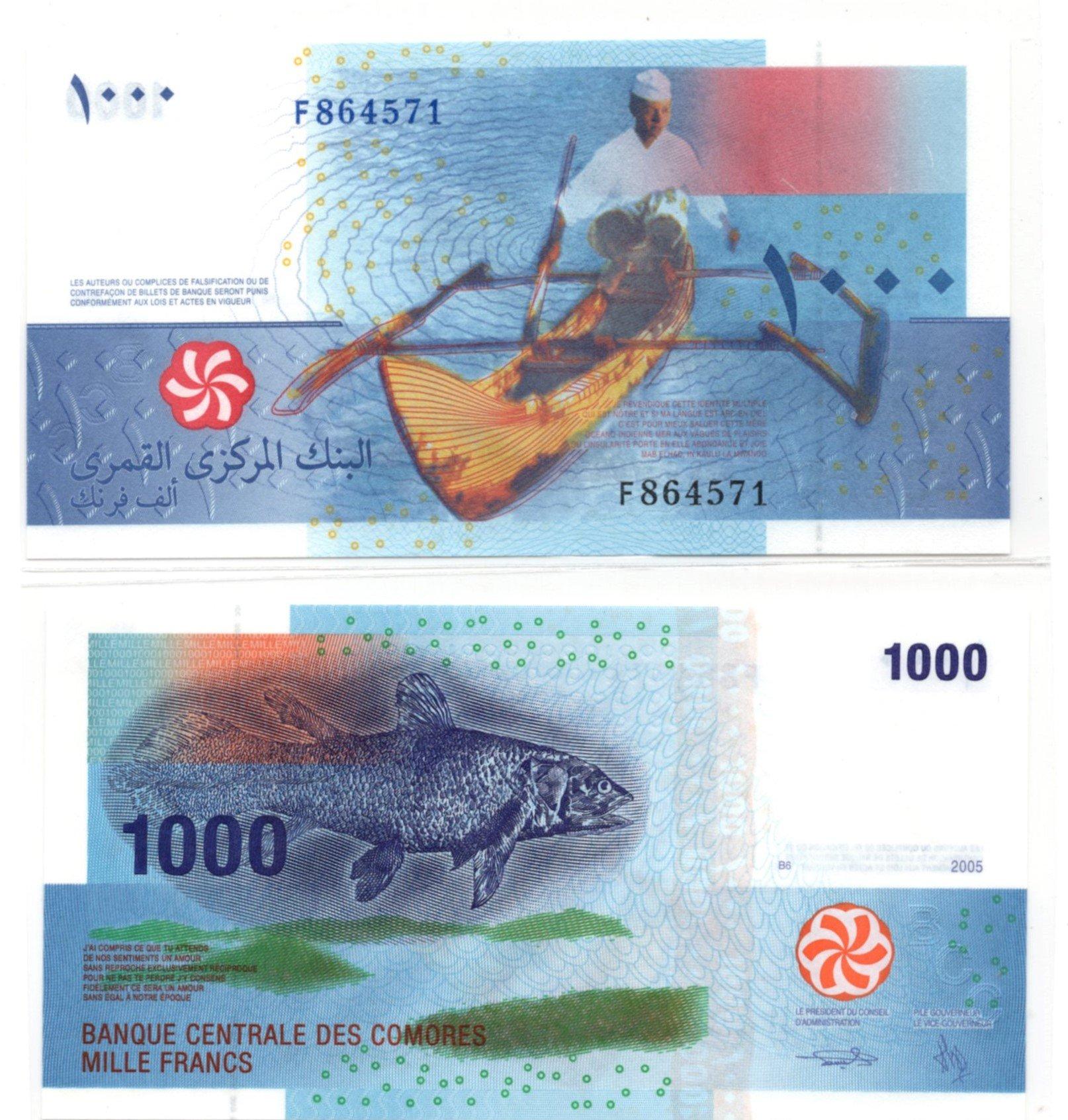 comores 1000 francs 2006