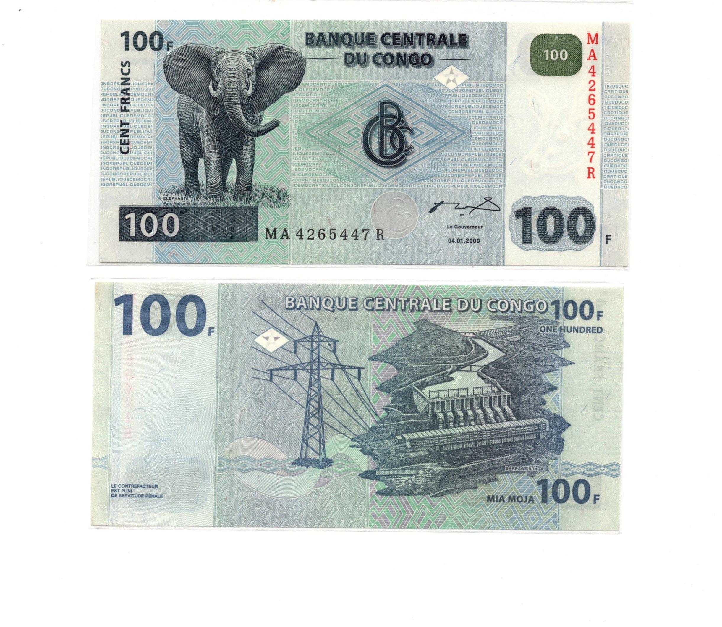 congo 100 francs