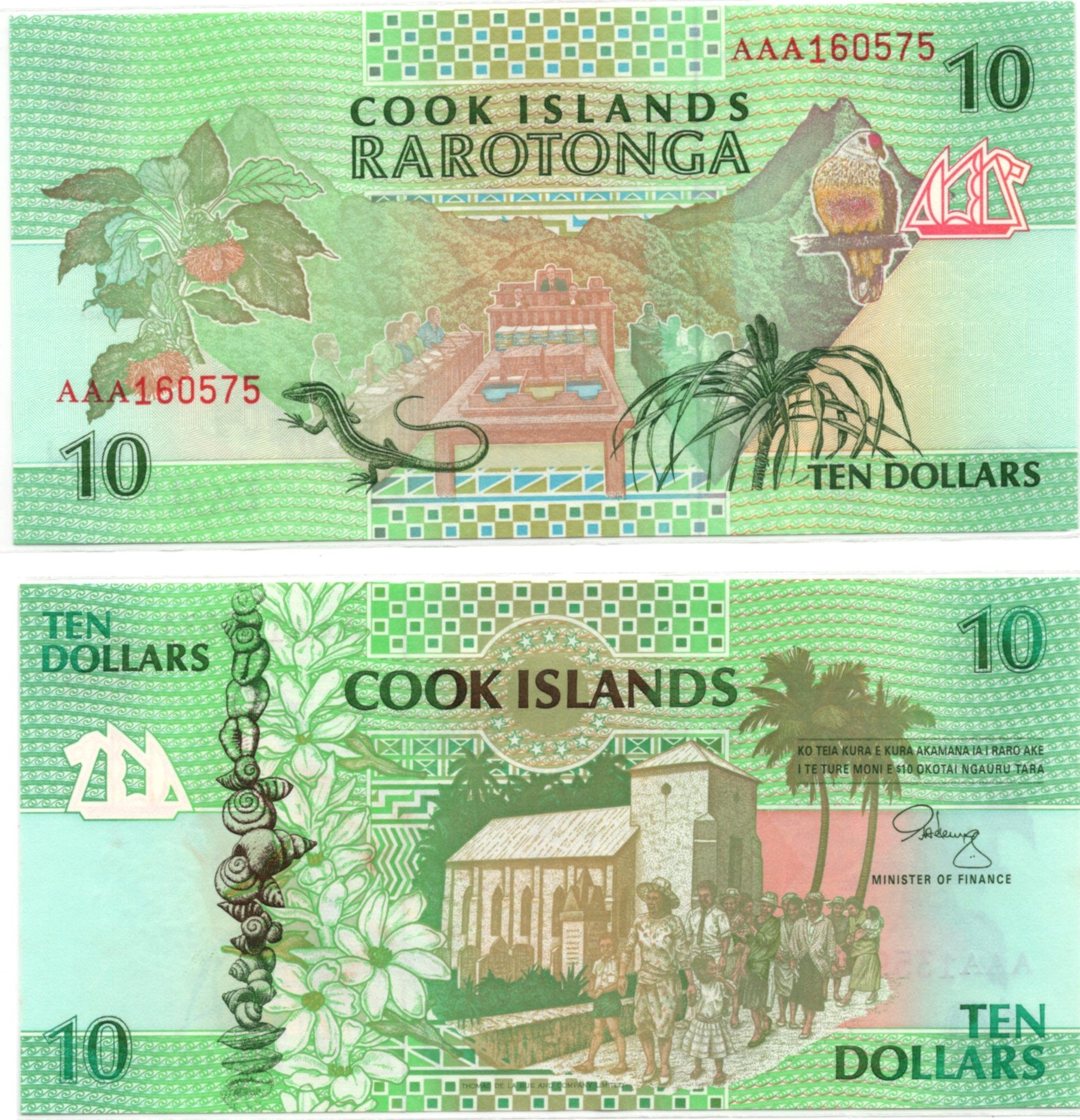 cook islands 10 dollars