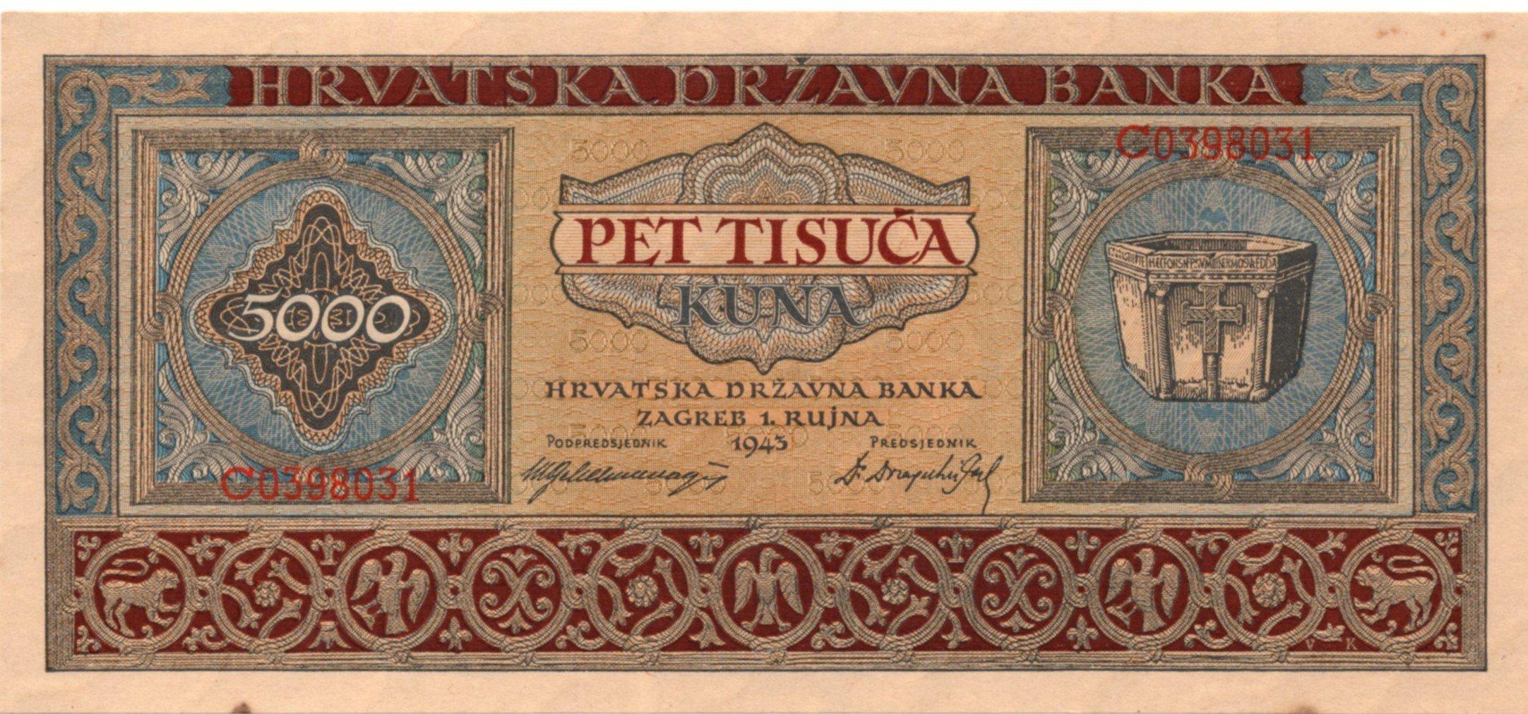 croatia 5000 kuna