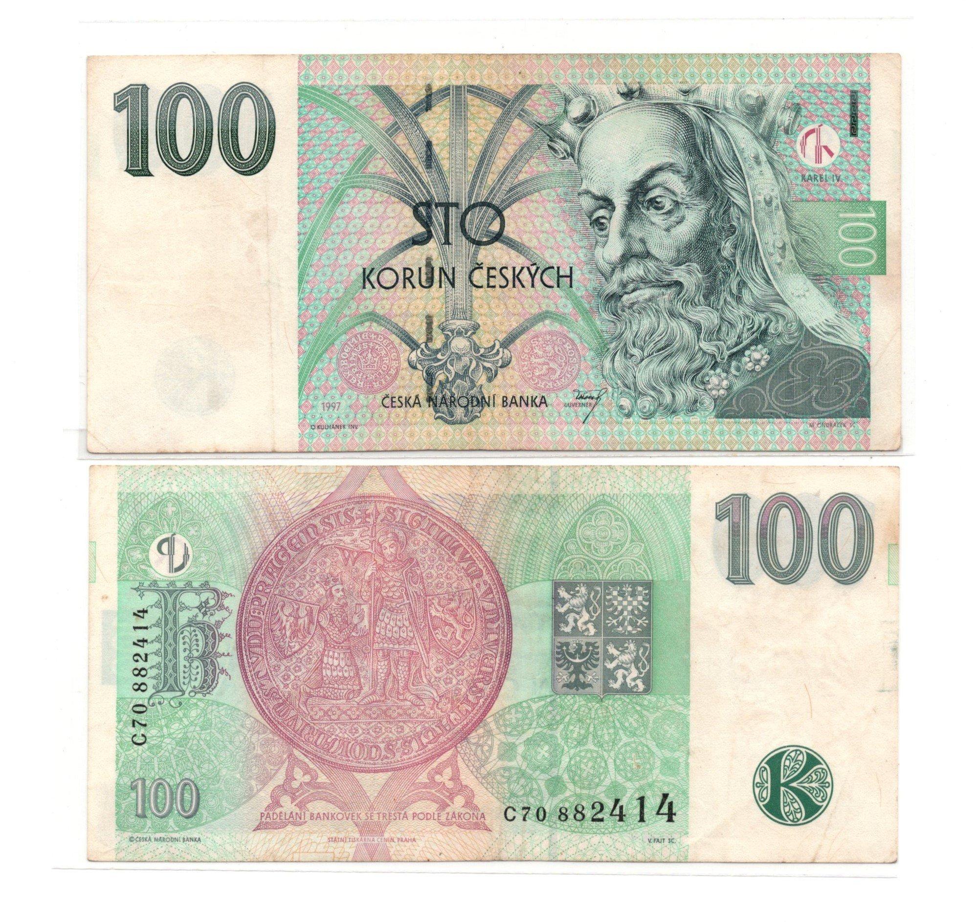 czech republic 100 korun