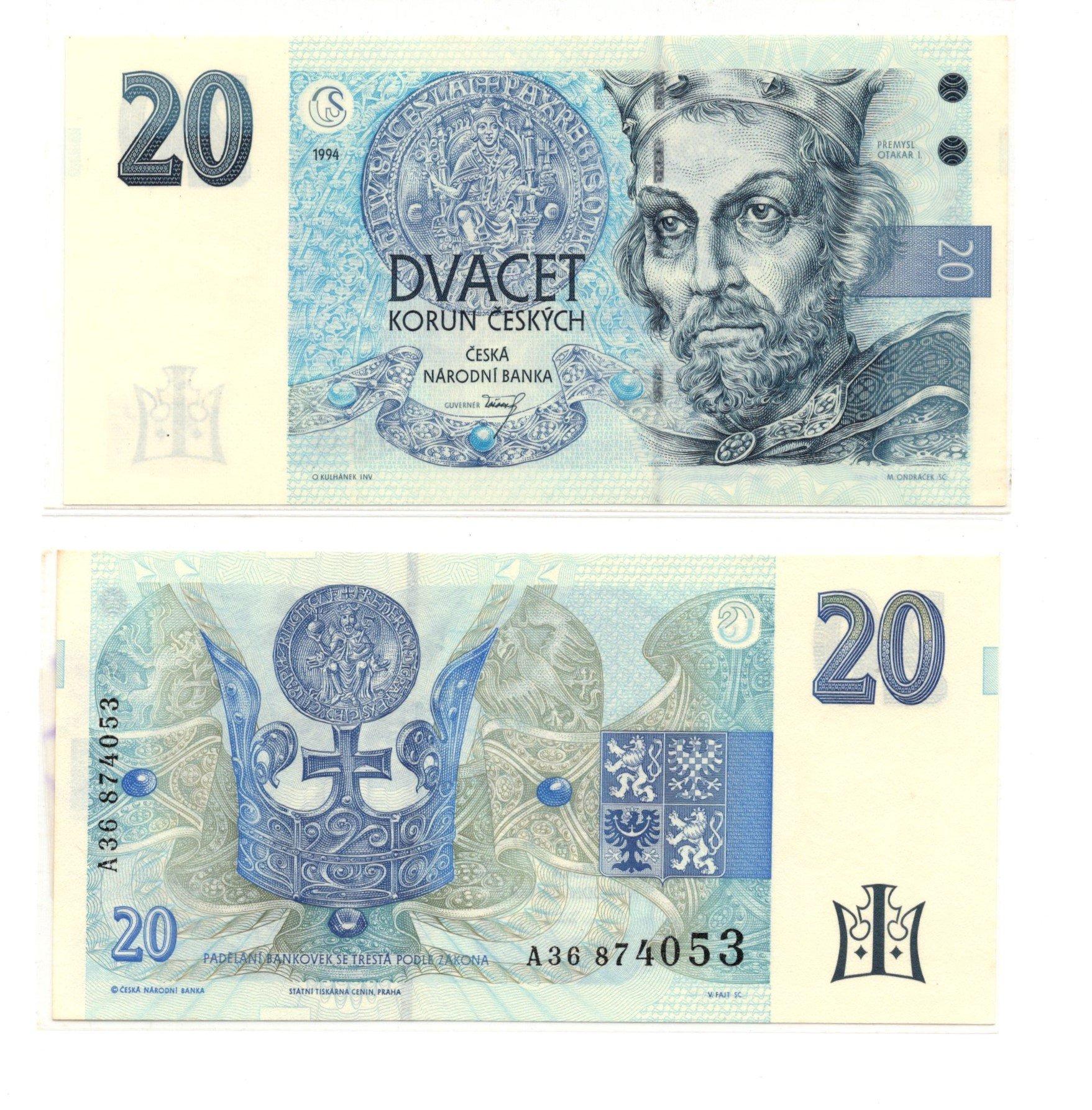 czech republic 20 korun