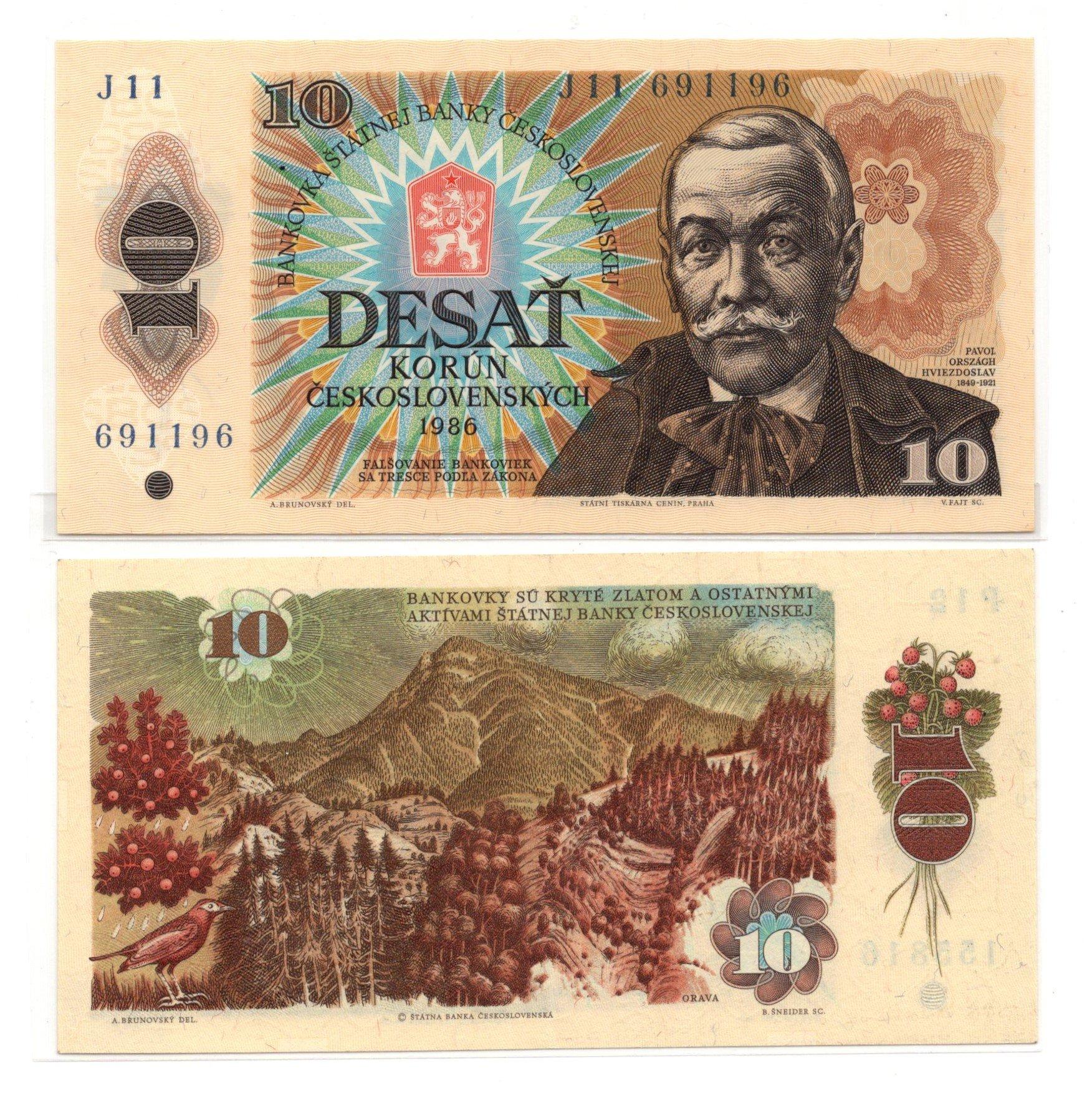 czech 0 korun 1986