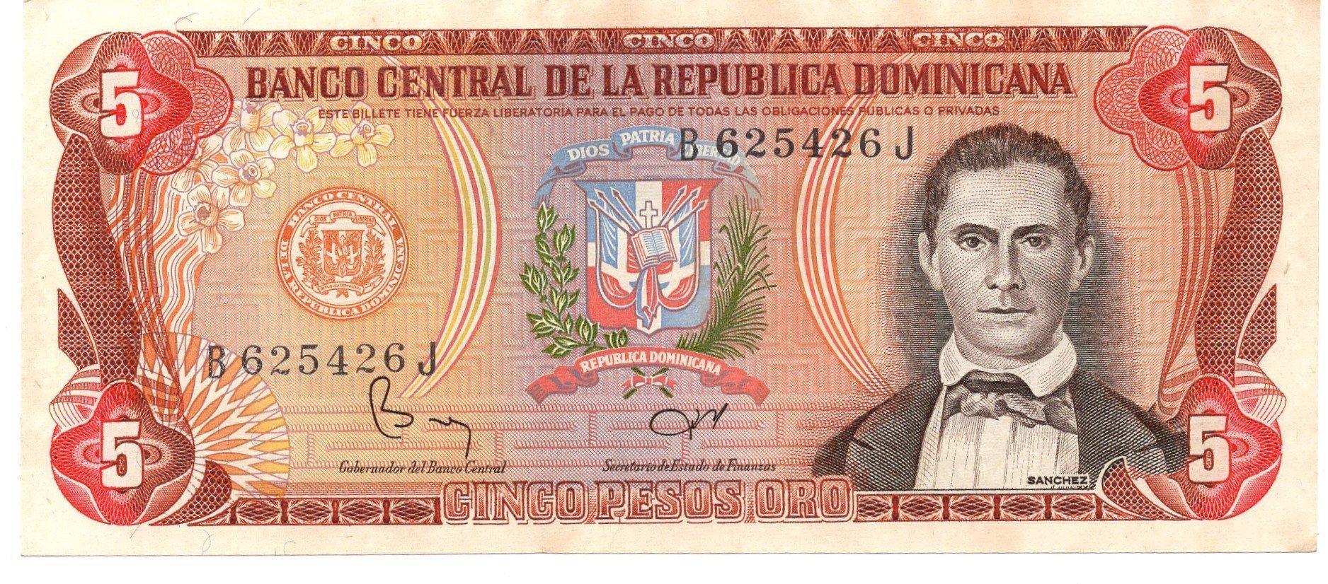 dominican republic 5 pesos