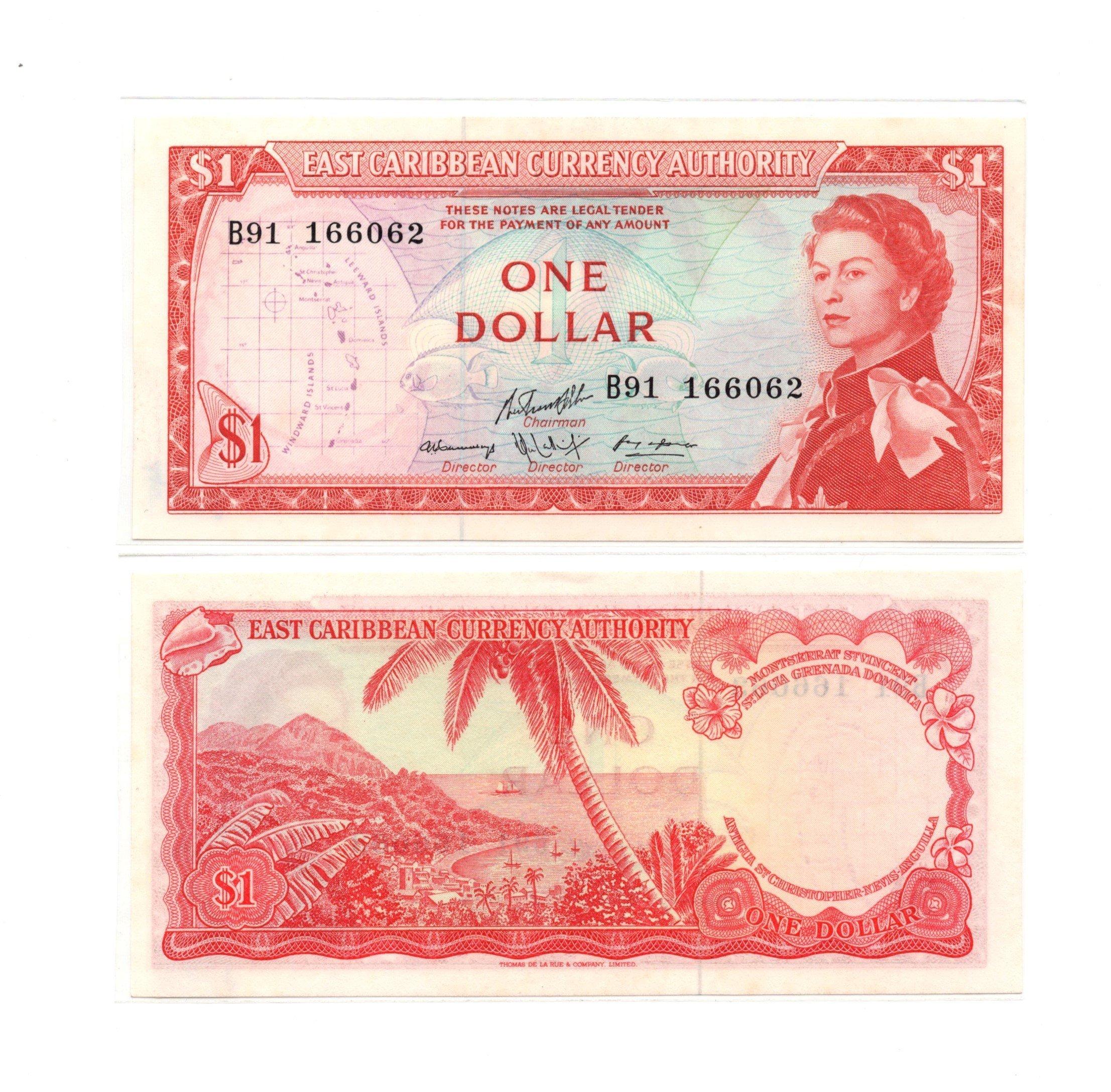 East caribbean 1 dollar 1967