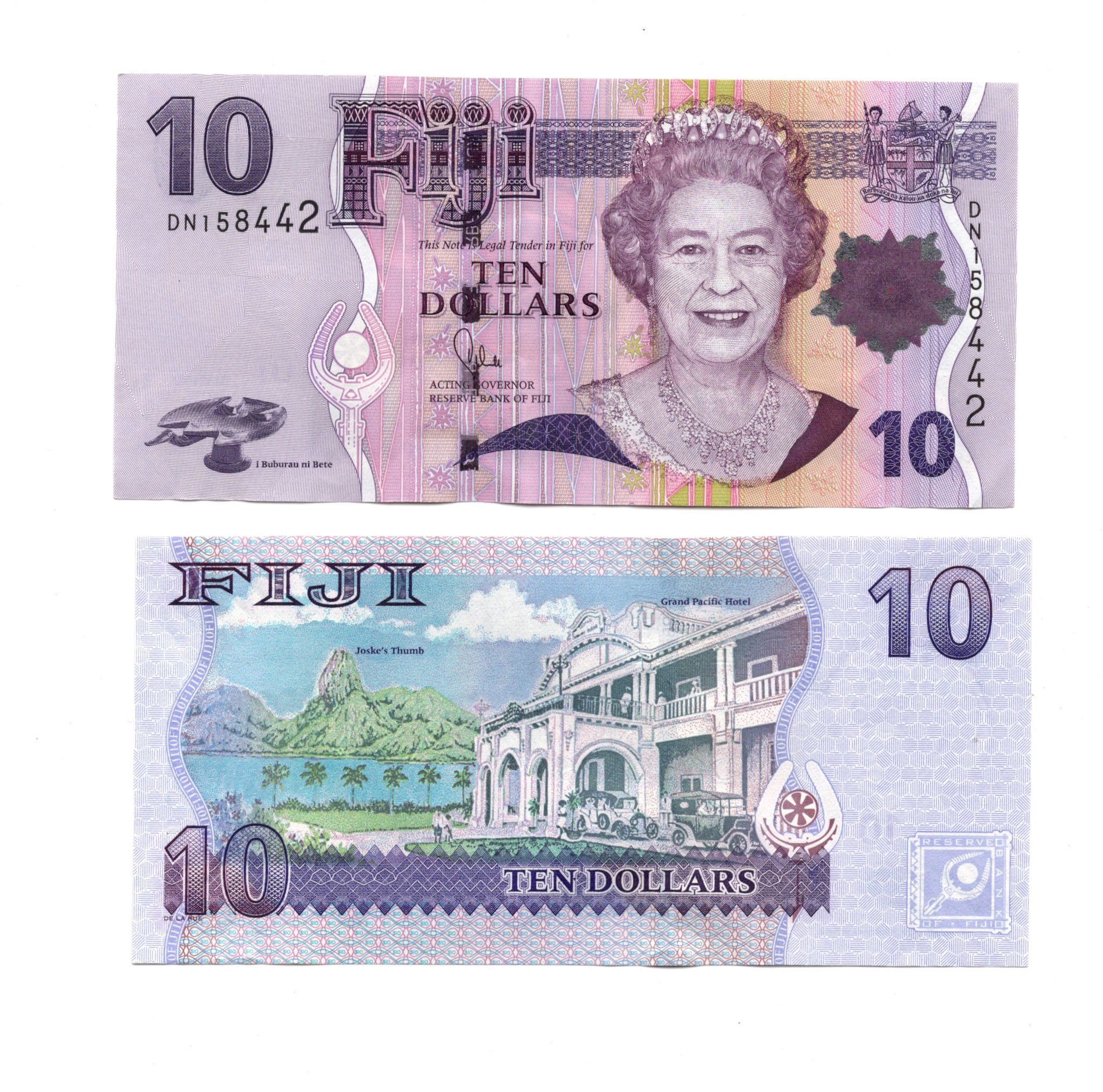 Fiji 10 dollar 2007