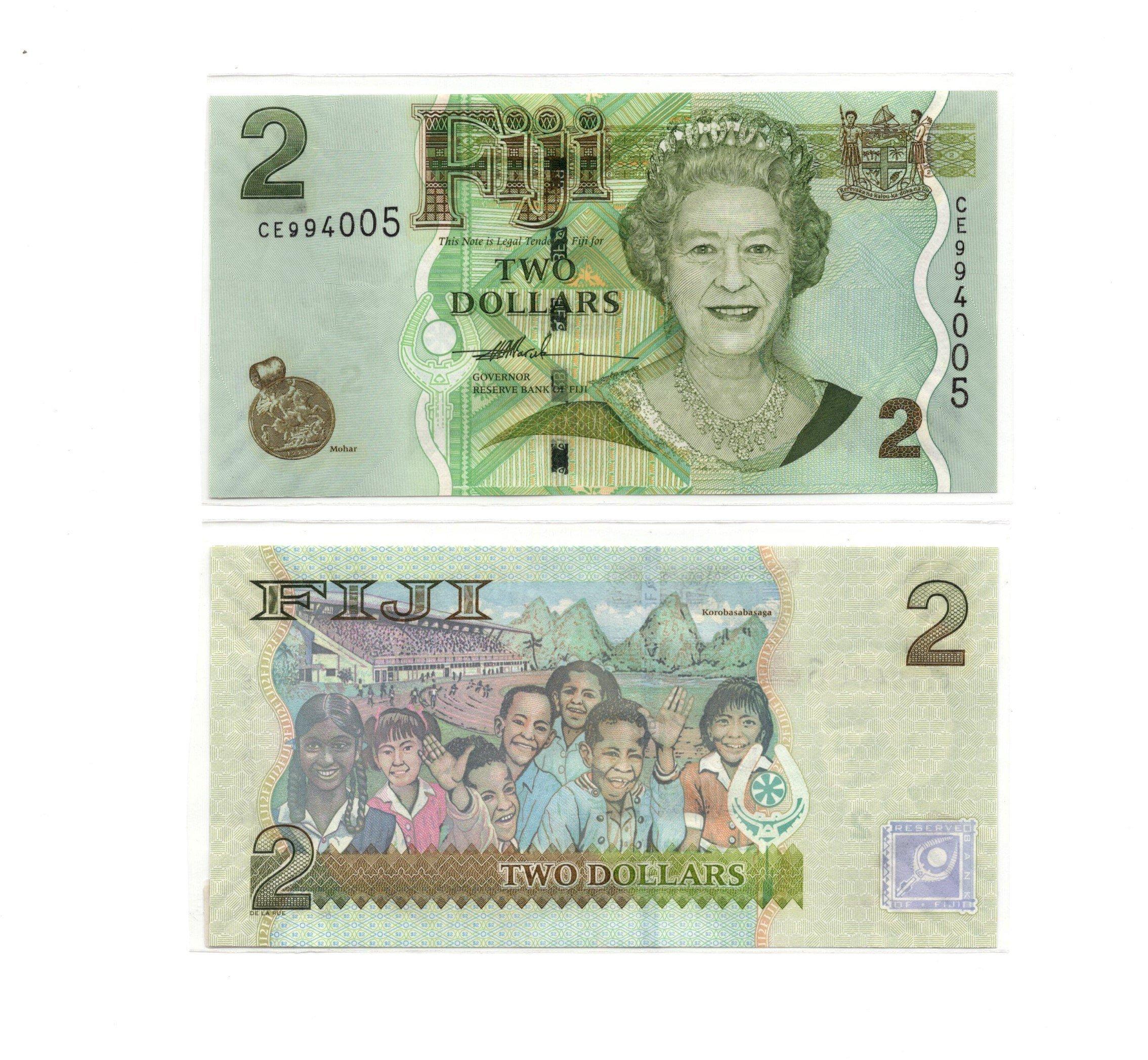 Fiji 2 dollars 2010