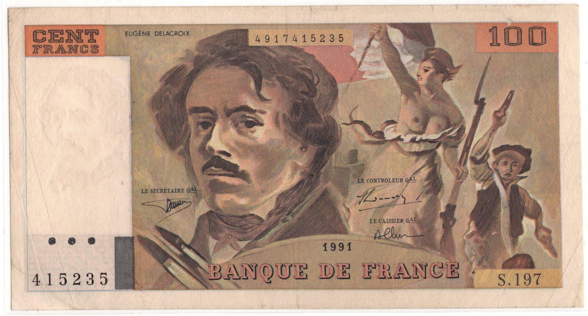 france 100 francs 1991