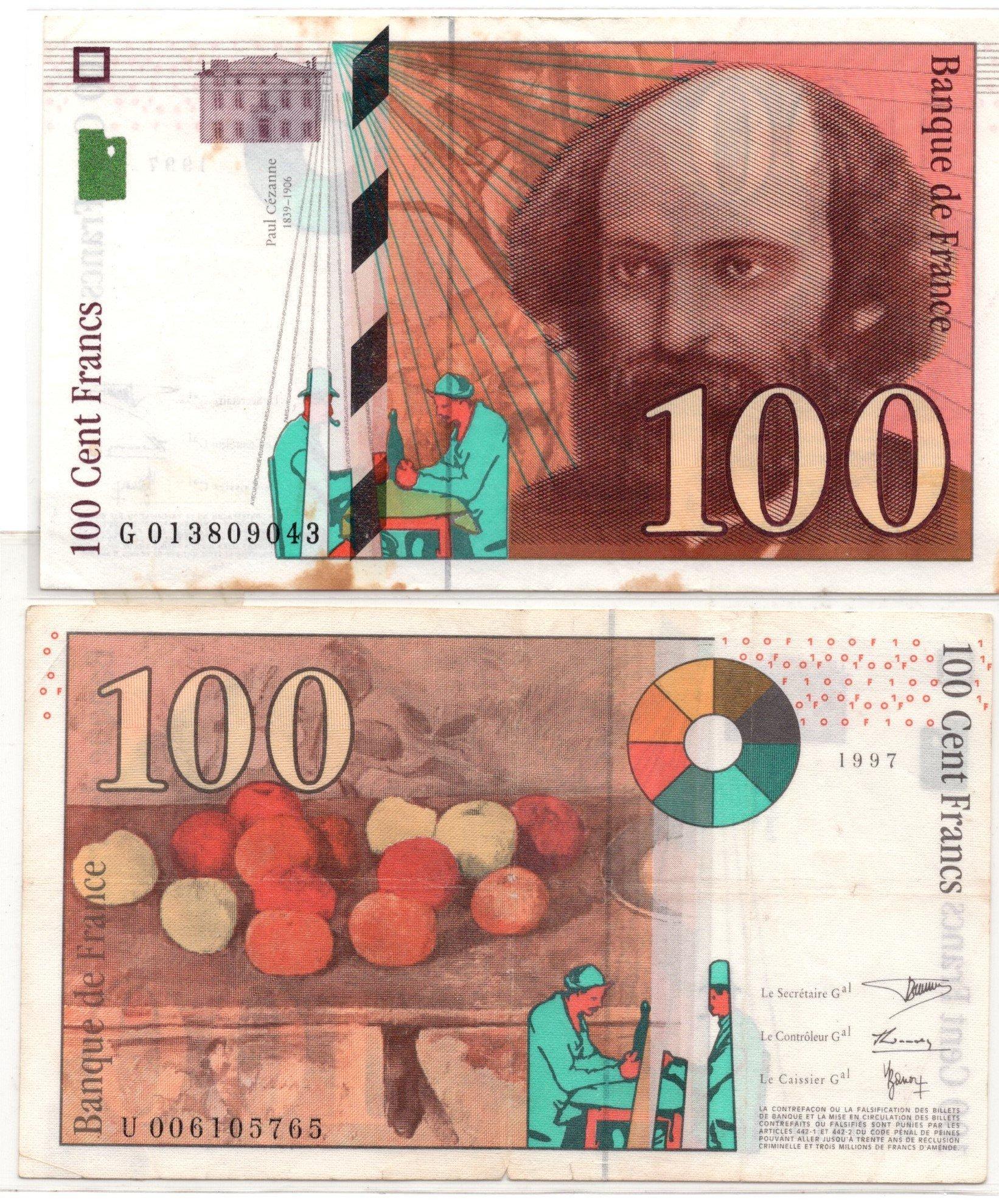 france 100 francs 1997