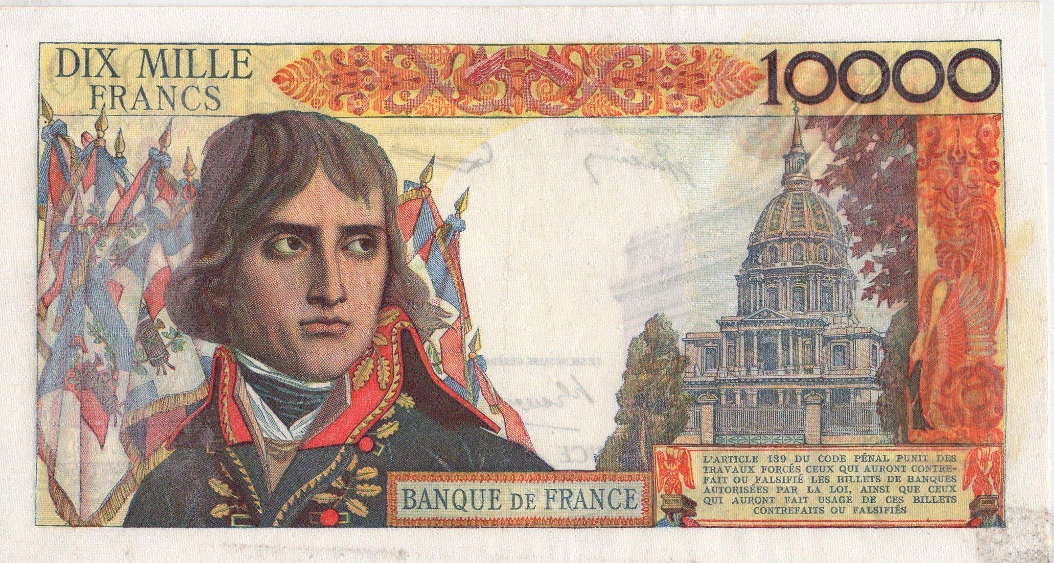 france 10000 francs back