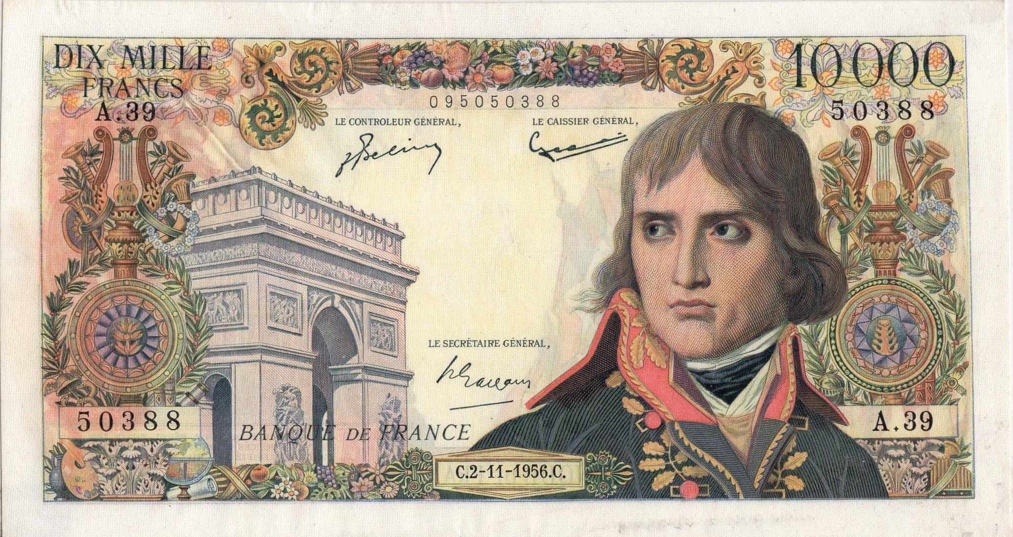 france 10000 francs