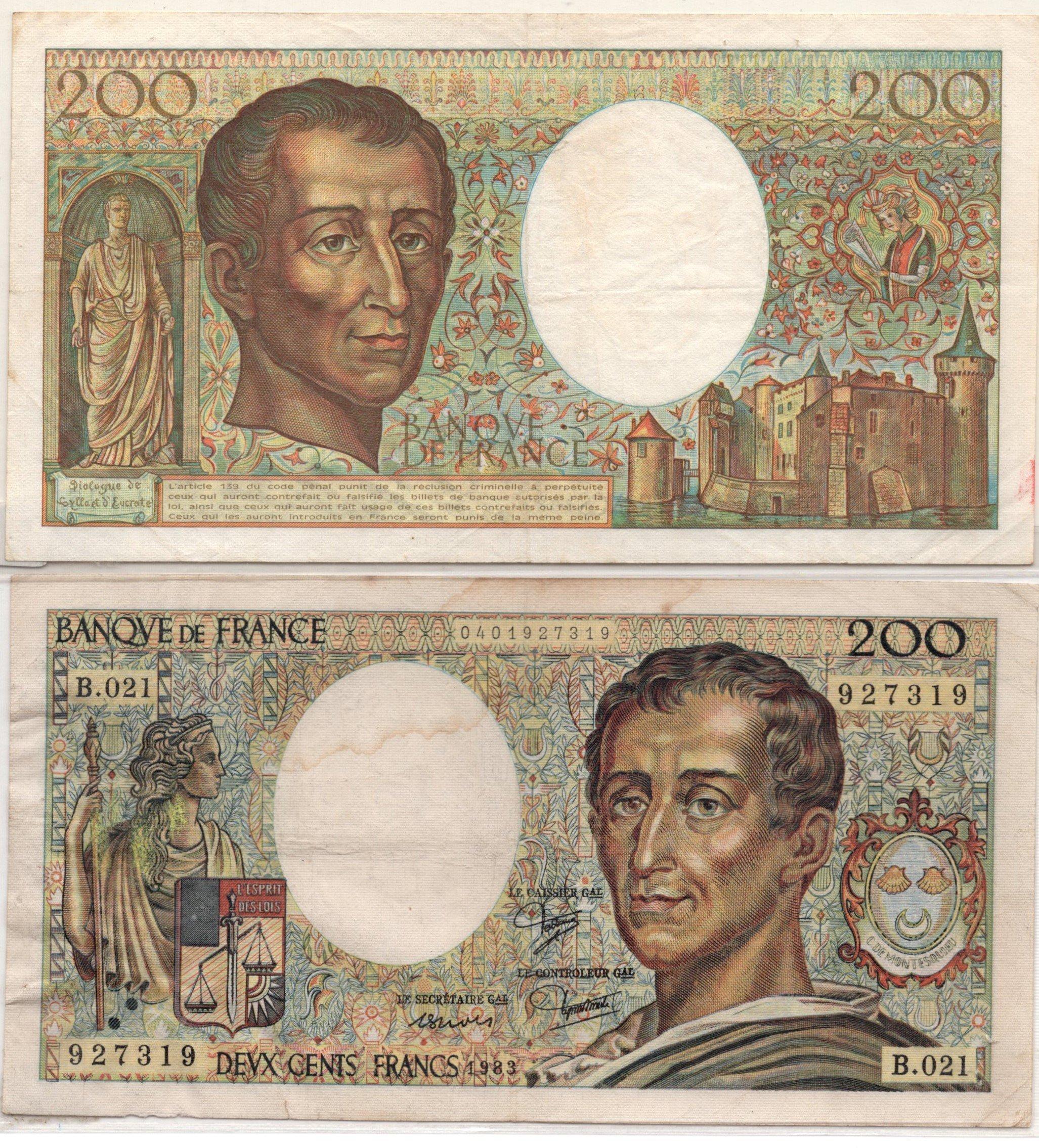 France 200 francs 1082