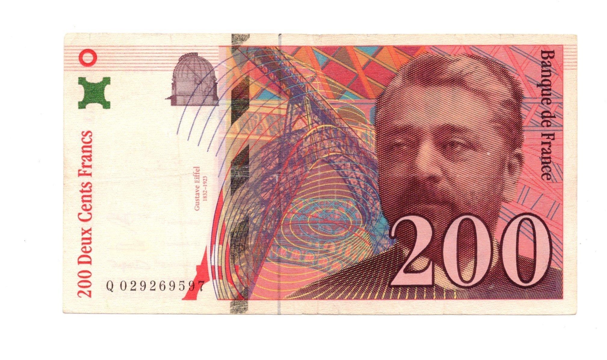 france 200 francs eiffel