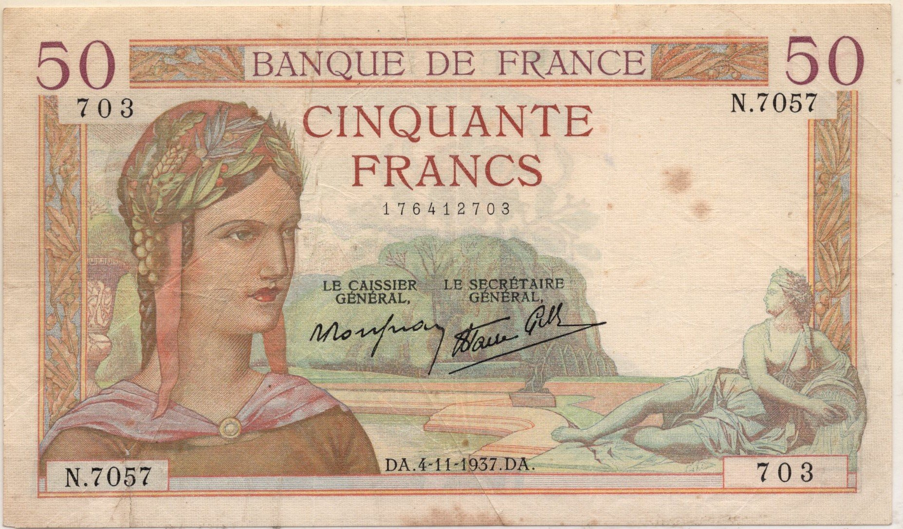 france 50 francs 1937