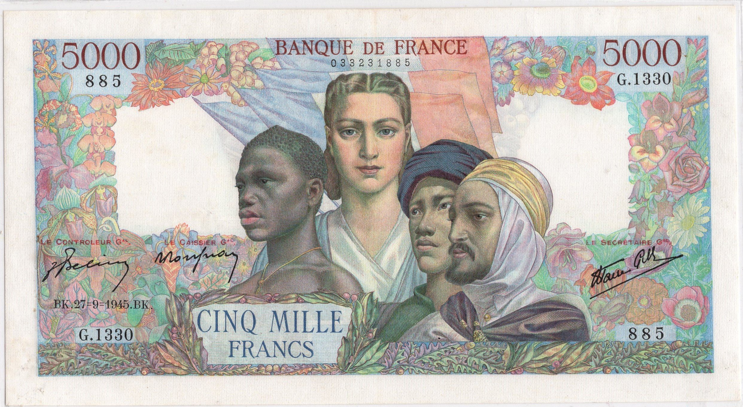 france 5000 frrancs