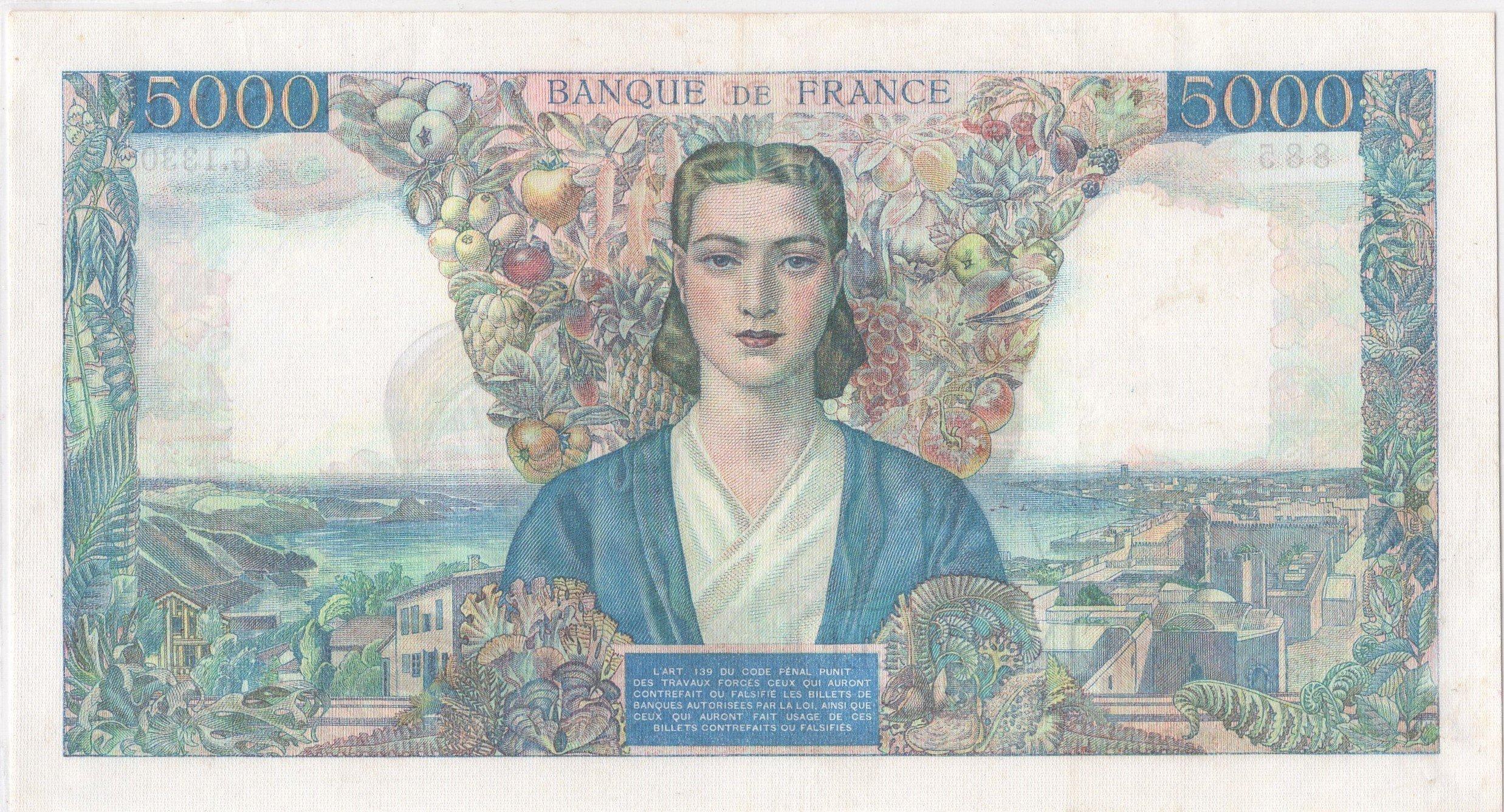 France 5000 francs 1945