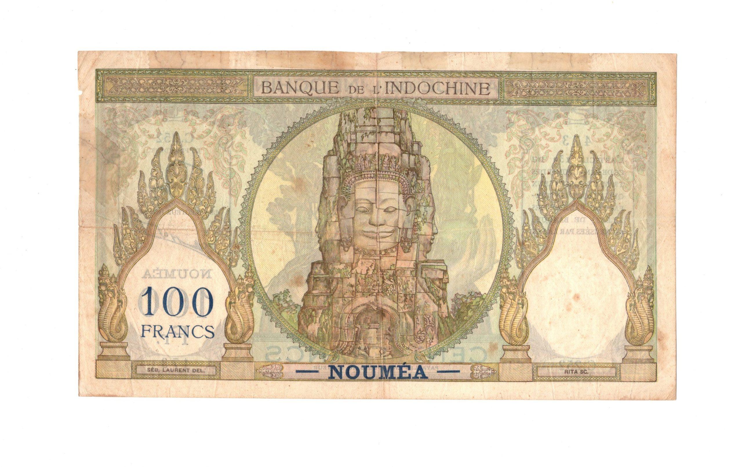 french idnochina 100 francs